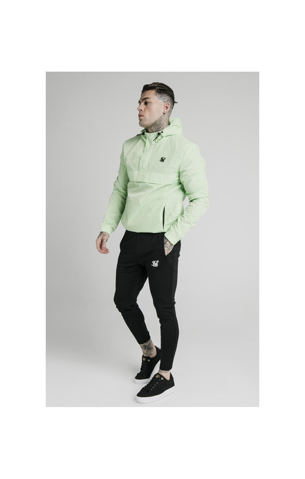 SikSilk Energy Overhead Windbreaker - Lime Green (1)