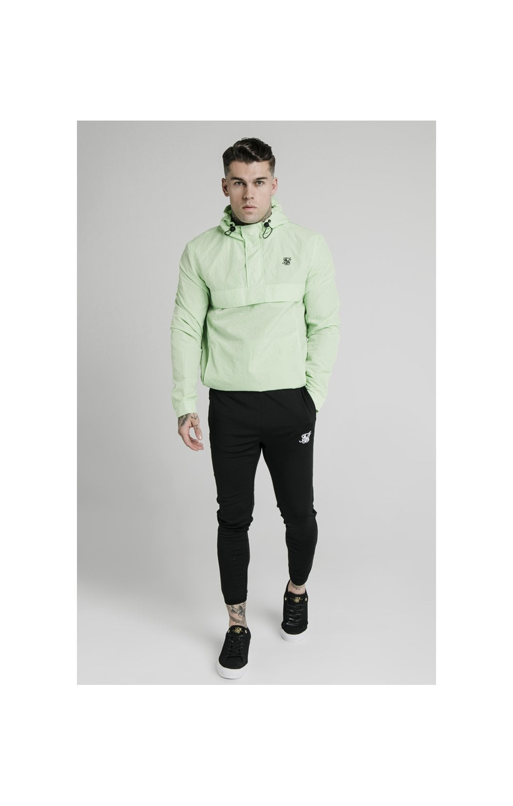 SikSilk Energy Overhead Windbreaker - Lime Green (2)