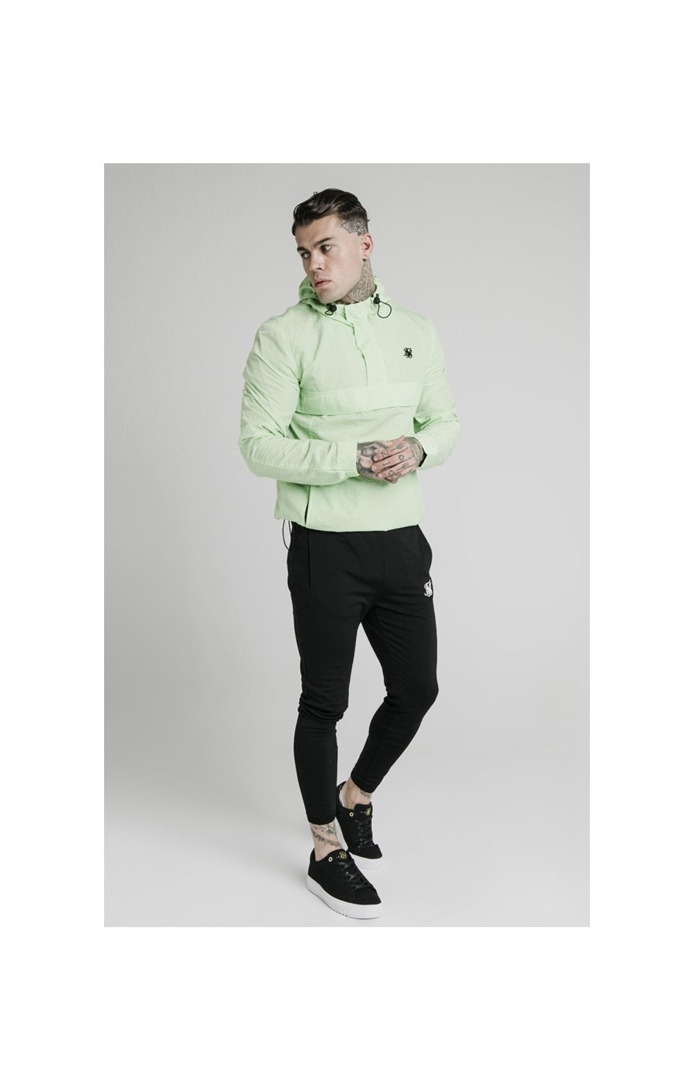 SikSilk Energy Overhead Windbreaker - Lime Green (3)
