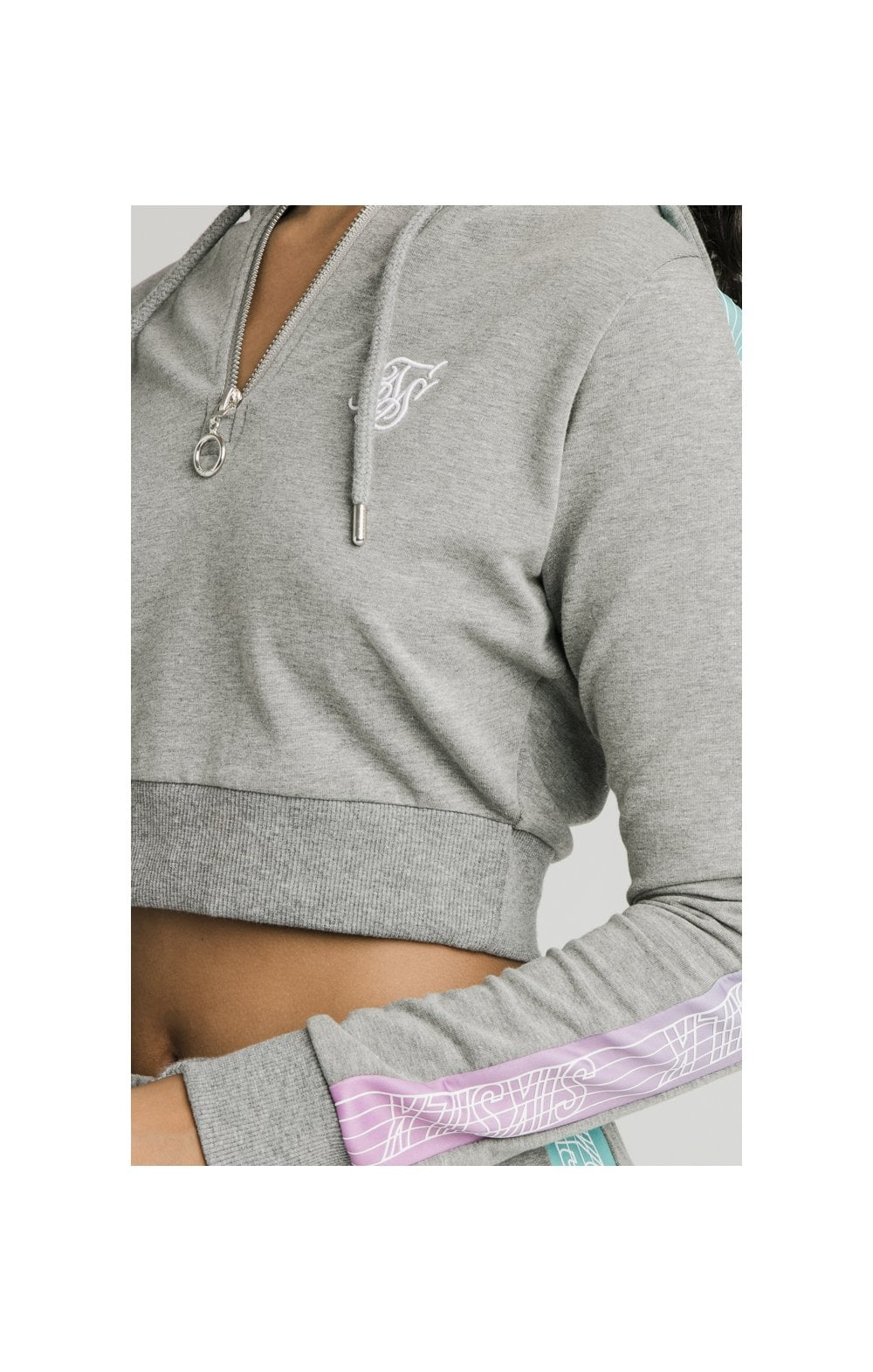 Load image into Gallery viewer, SikSilk Fade Runner Track Top - Grey Marl (1)