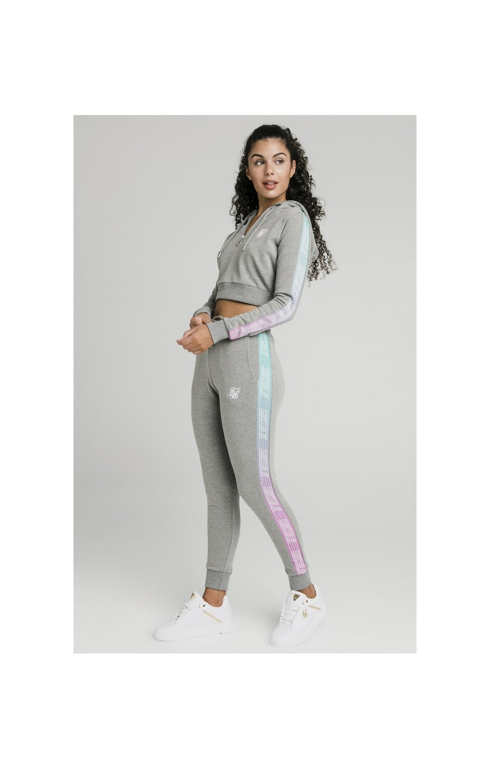 Load image into Gallery viewer, SikSilk Fade Runner Track Top - Grey Marl (2)