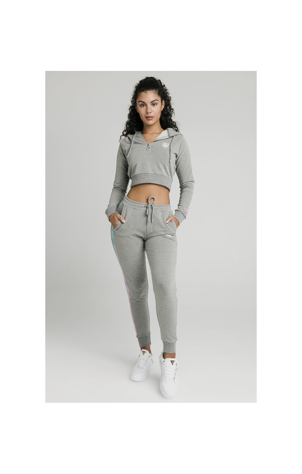 Load image into Gallery viewer, SikSilk Fade Runner Track Top - Grey Marl (3)