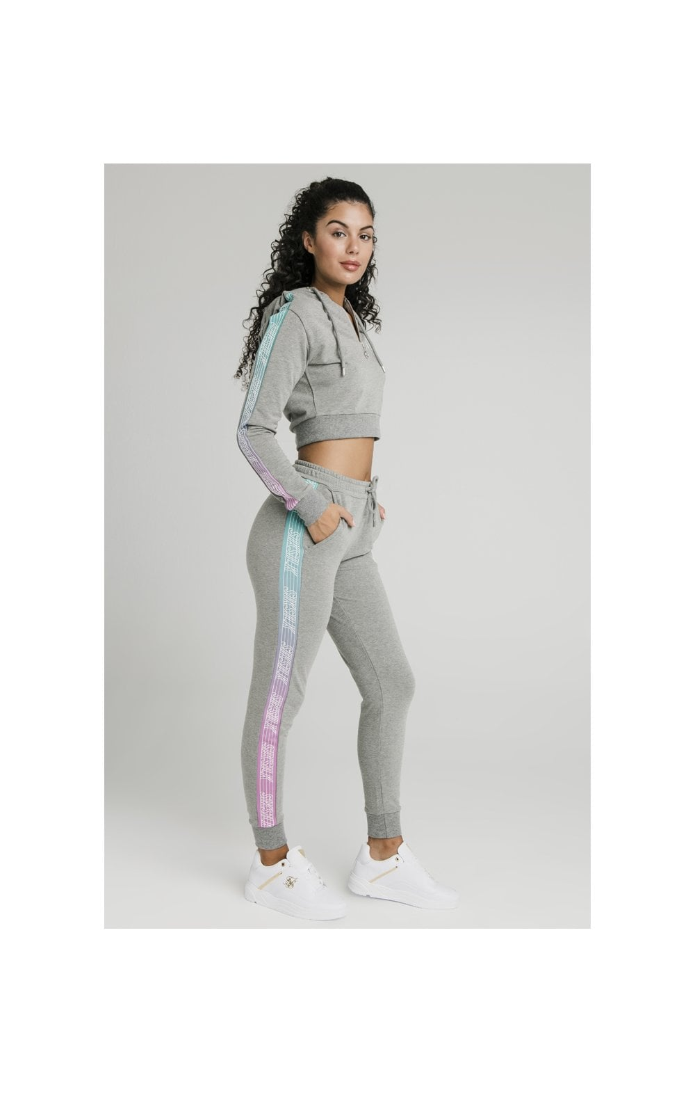 Load image into Gallery viewer, SikSilk Fade Runner Track Top - Grey Marl (4)