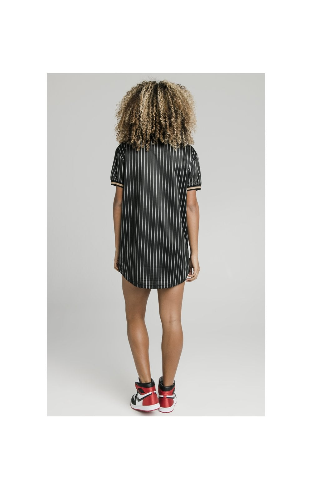 SikSilk Baseball Jersey Dress - Black (6)
