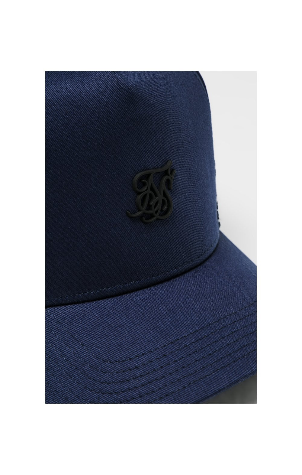 SikSilk Stretch Fit Full Trucker - Navy (1)