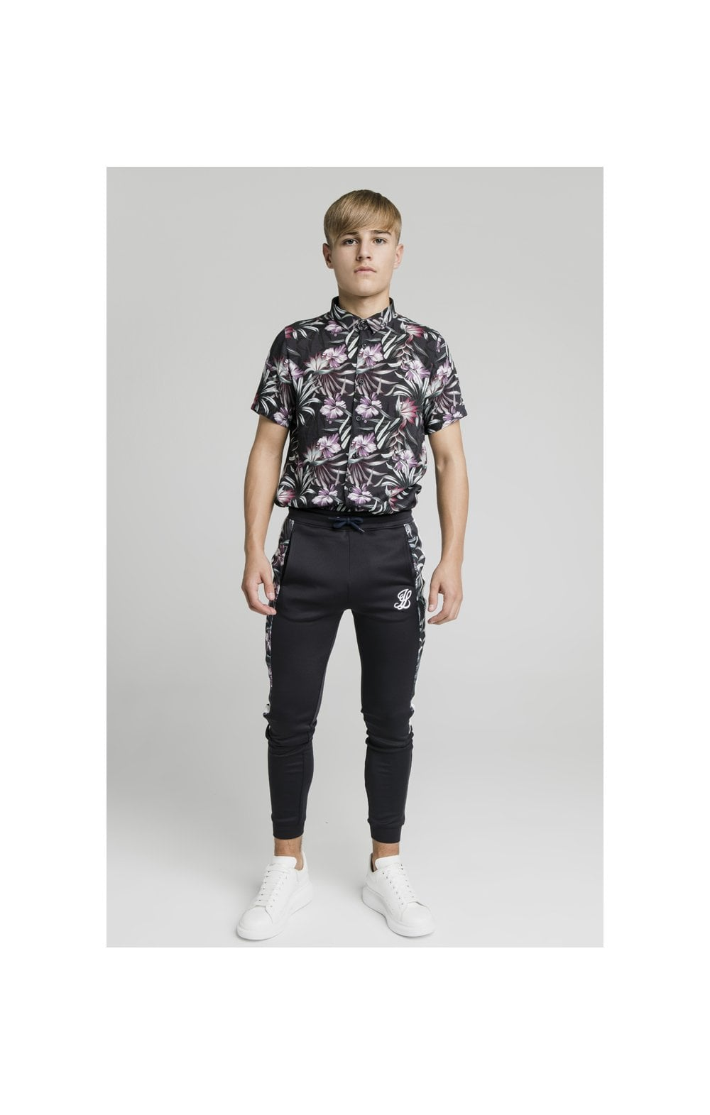 Load image into Gallery viewer, Illusive London Dark Tropical Tape Pants - Navy