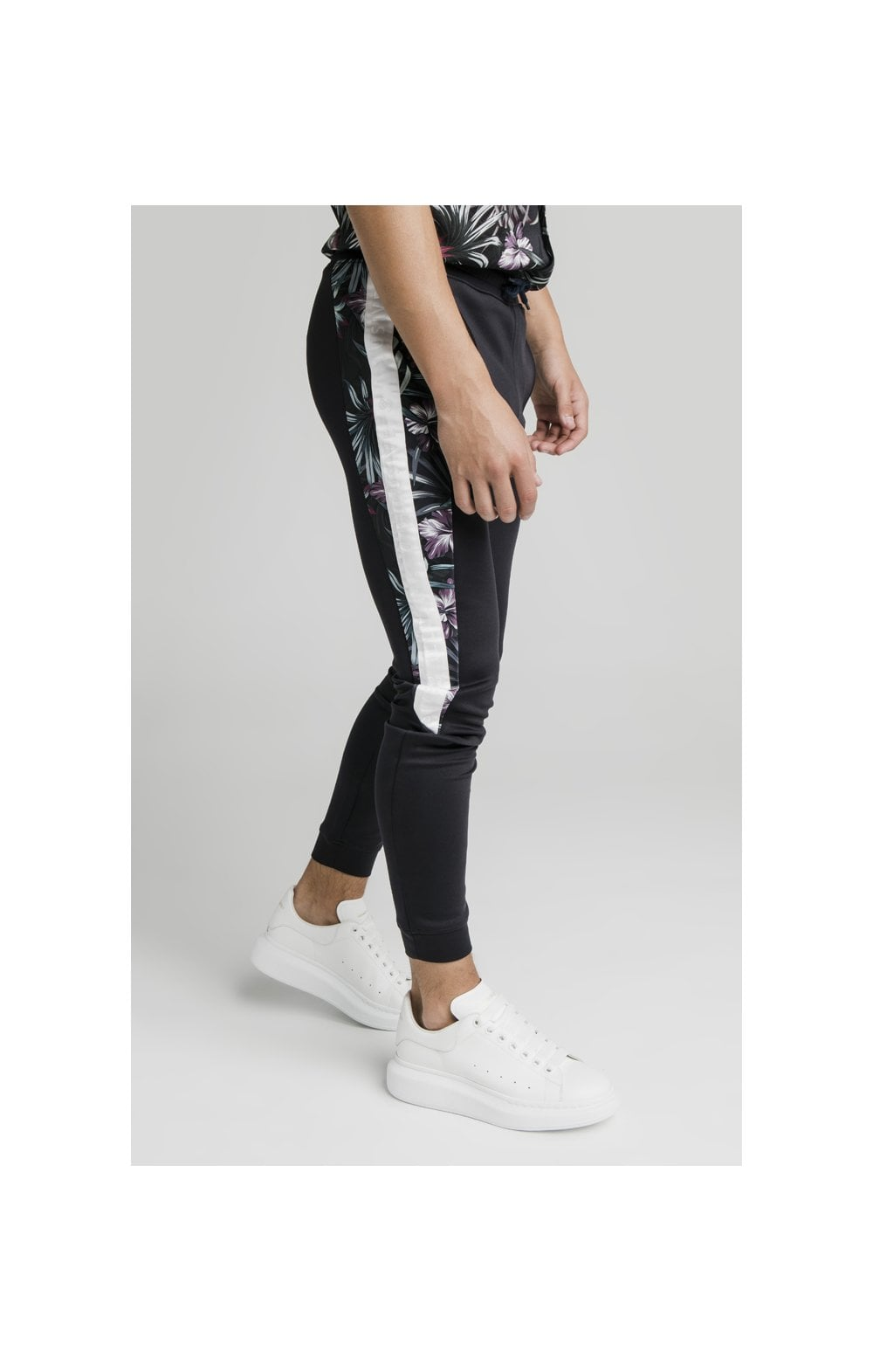 Load image into Gallery viewer, Illusive London Dark Tropical Tape Pants - Navy (1)