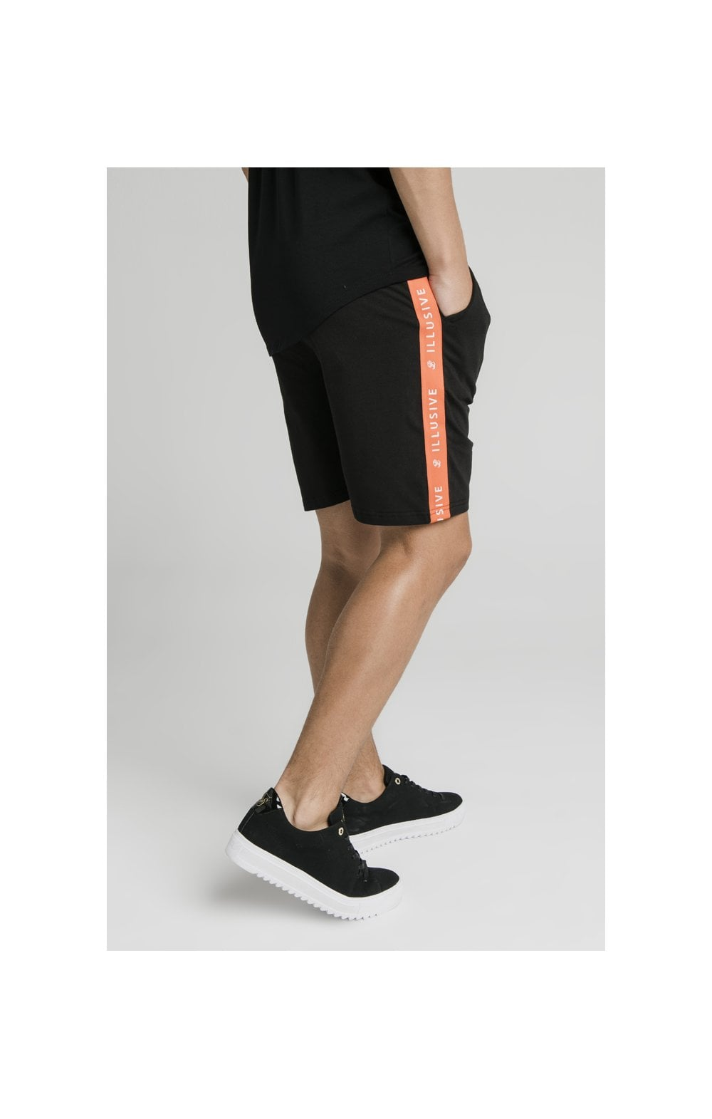 Illusive London Tape Shorts - Black (3)