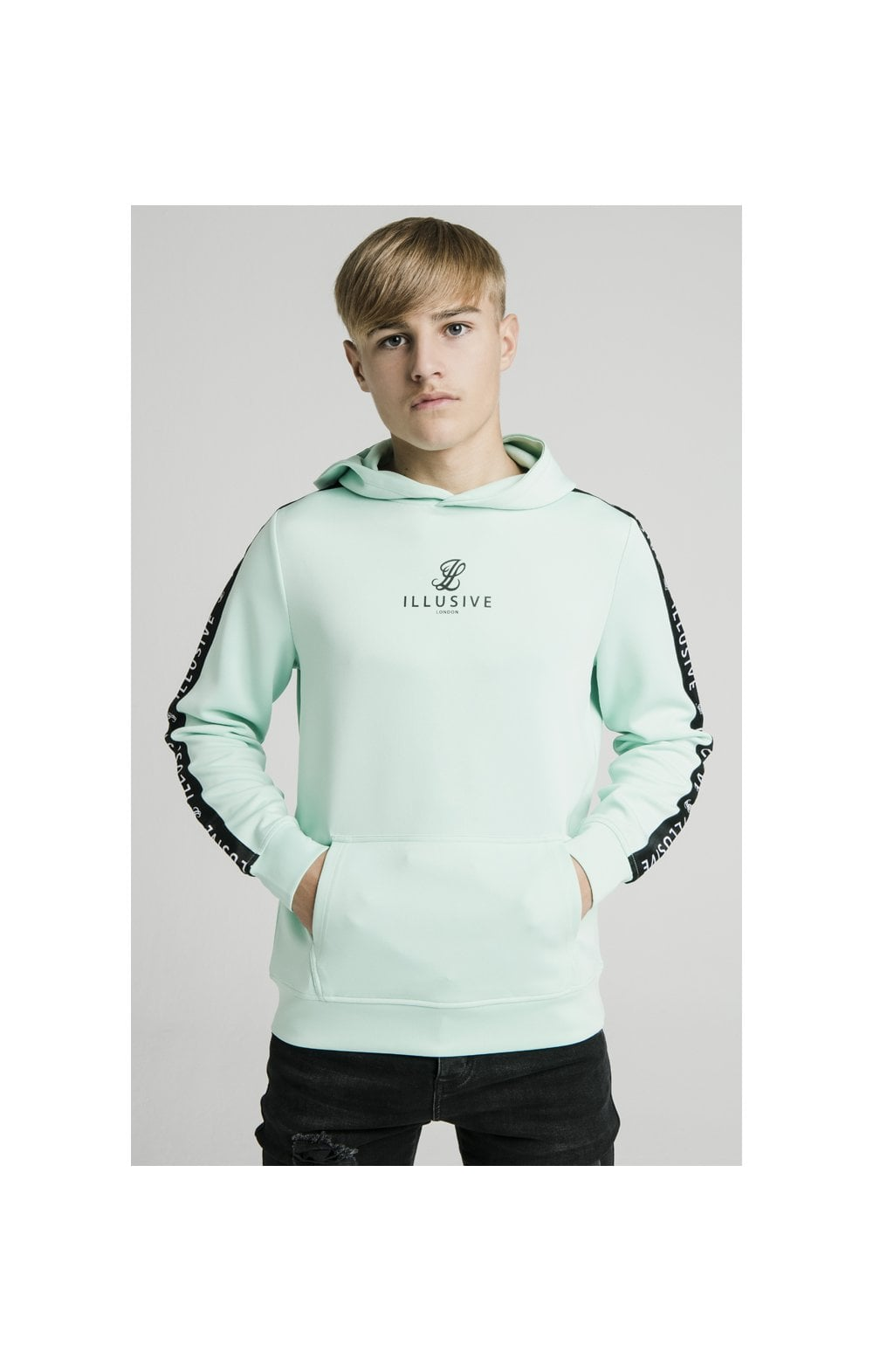 Load image into Gallery viewer, Illusive London Tape Overhead Hoodie - Mint