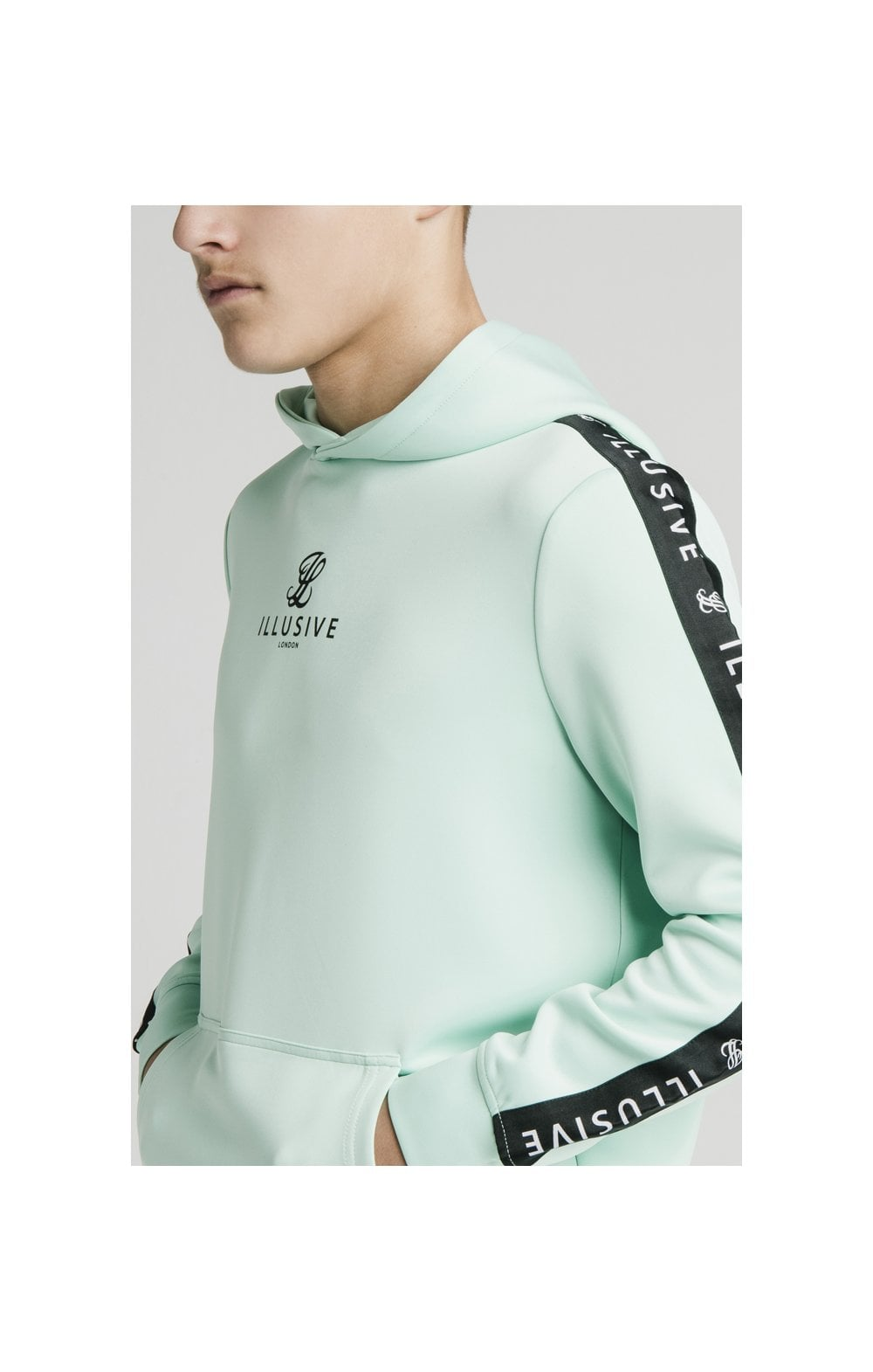 Load image into Gallery viewer, Illusive London Tape Overhead Hoodie - Mint (1)