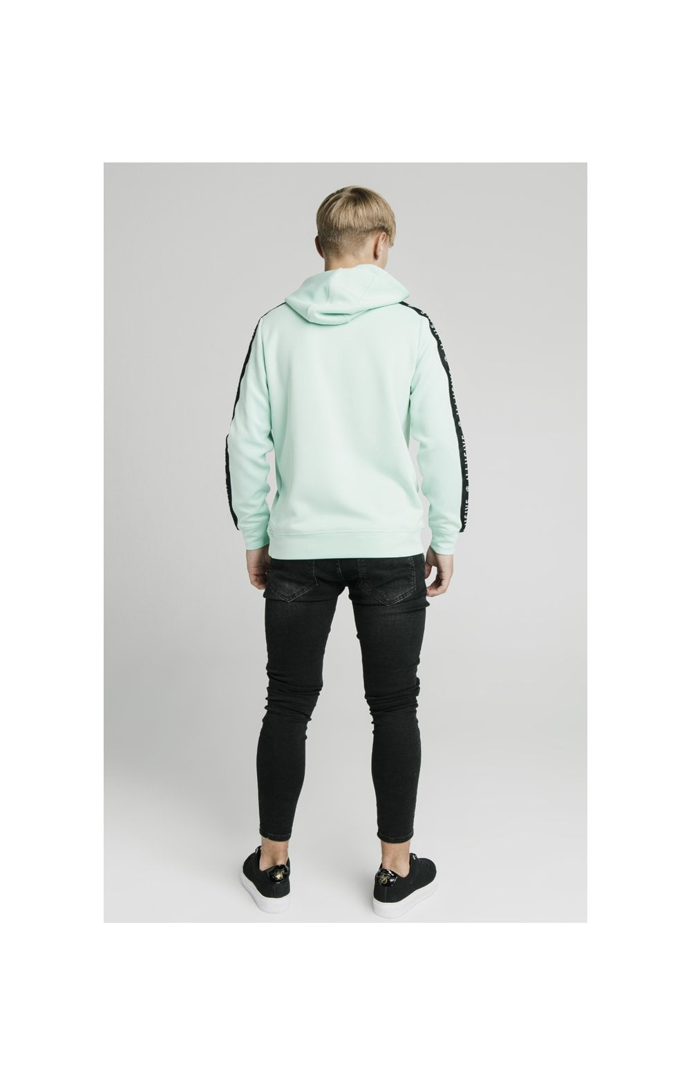 Load image into Gallery viewer, Illusive London Tape Overhead Hoodie - Mint (6)