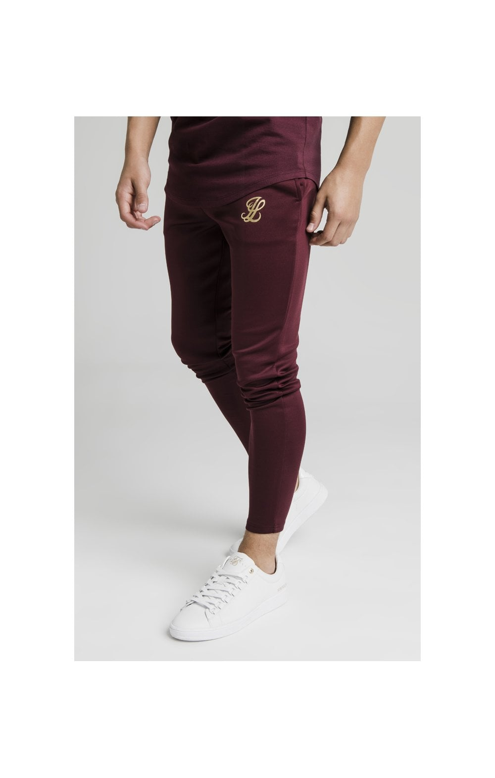 Illusive London Agility Track Pants - Burgundy