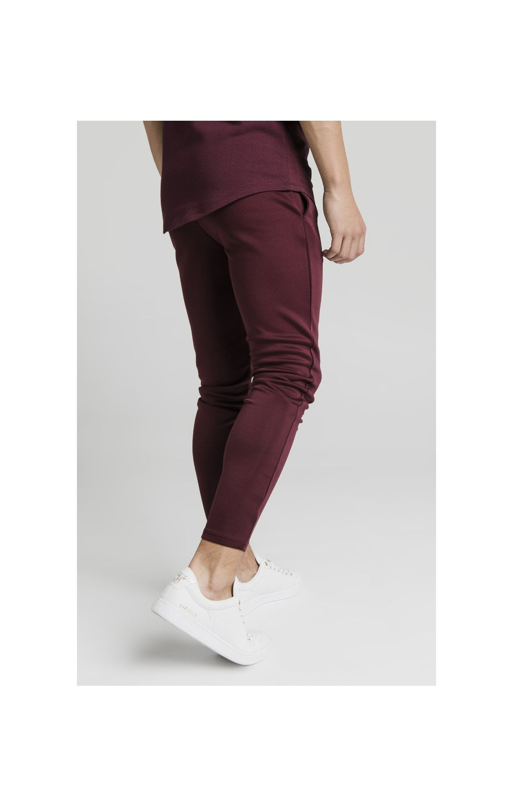 Illusive London Agility Track Pants - Burgundy (2)