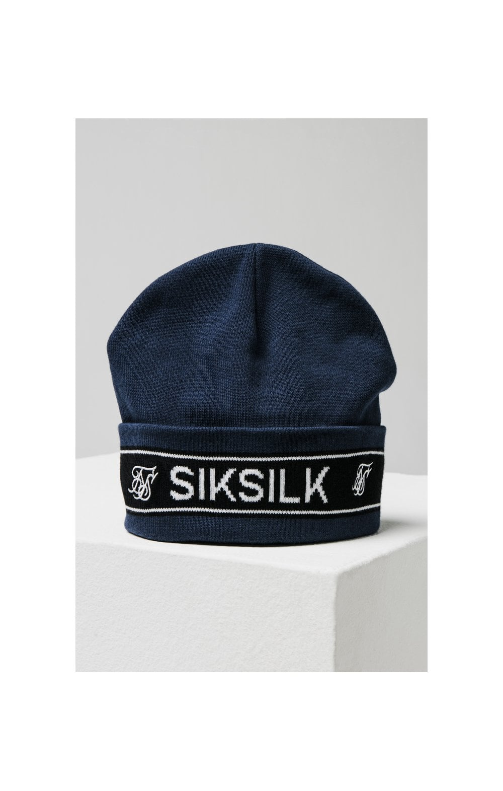 Load image into Gallery viewer, SikSilk Tape Beanie - Navy