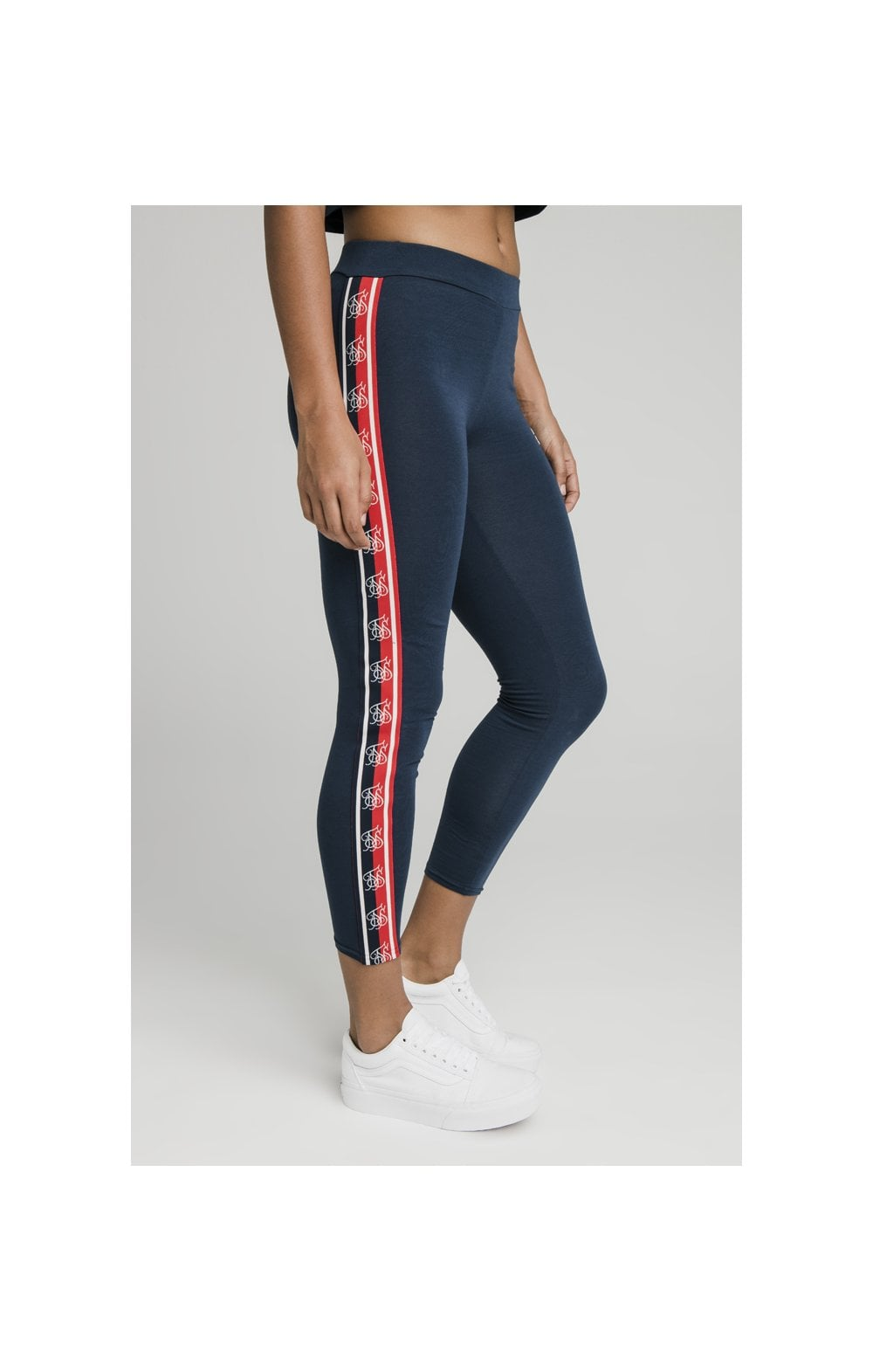Load image into Gallery viewer, SikSilk Classic Tape Leggings - Navy (2)
