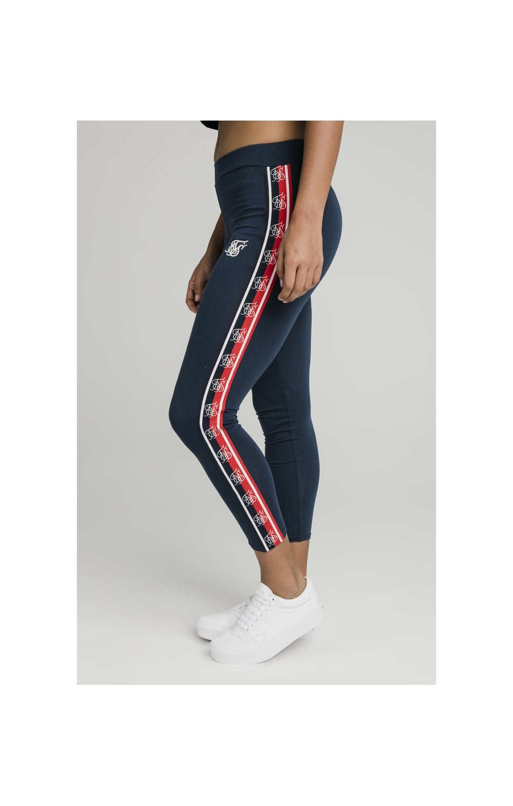 Load image into Gallery viewer, SikSilk Classic Tape Leggings - Navy (3)