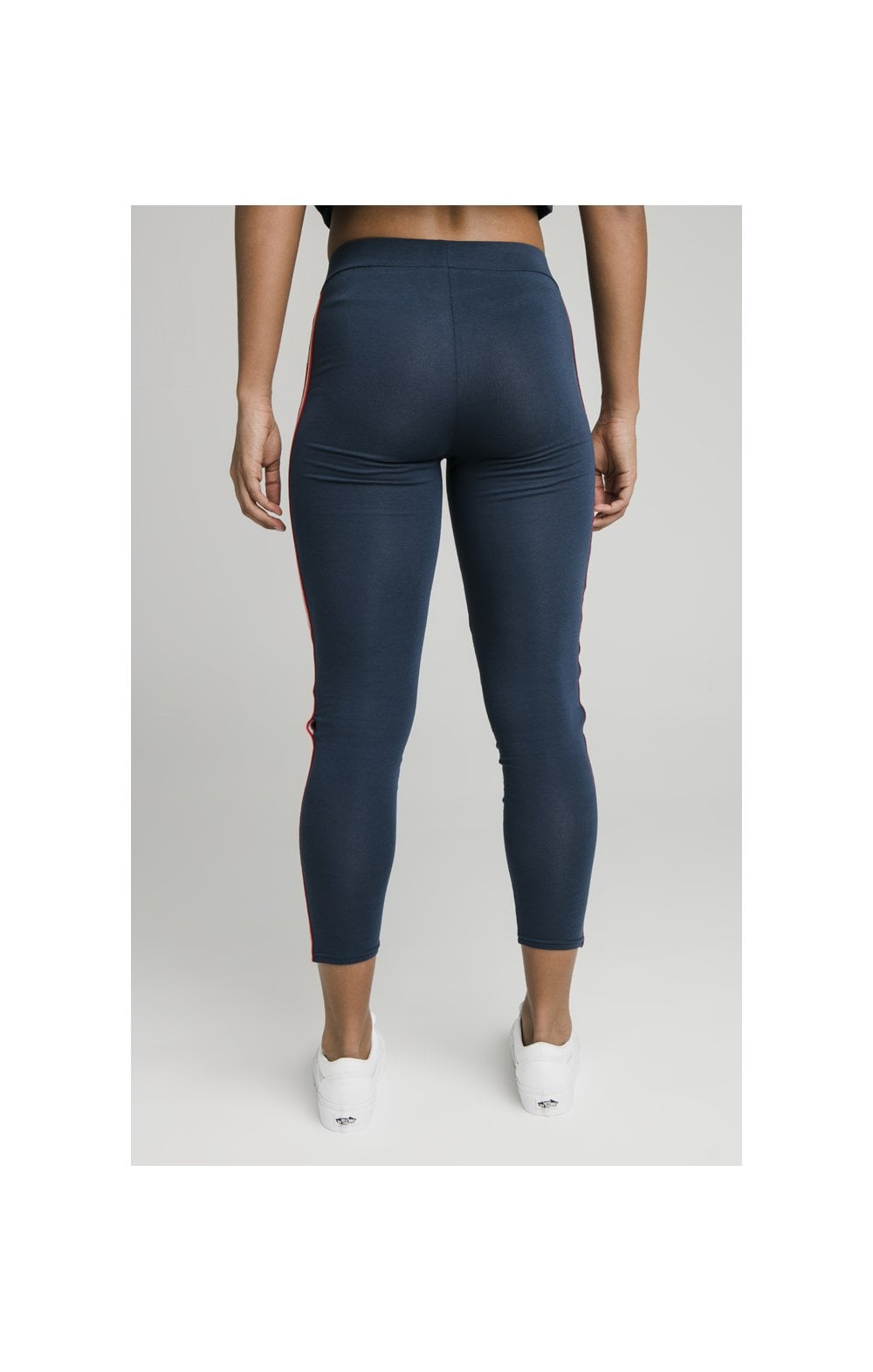 Load image into Gallery viewer, SikSilk Classic Tape Leggings - Navy (4)