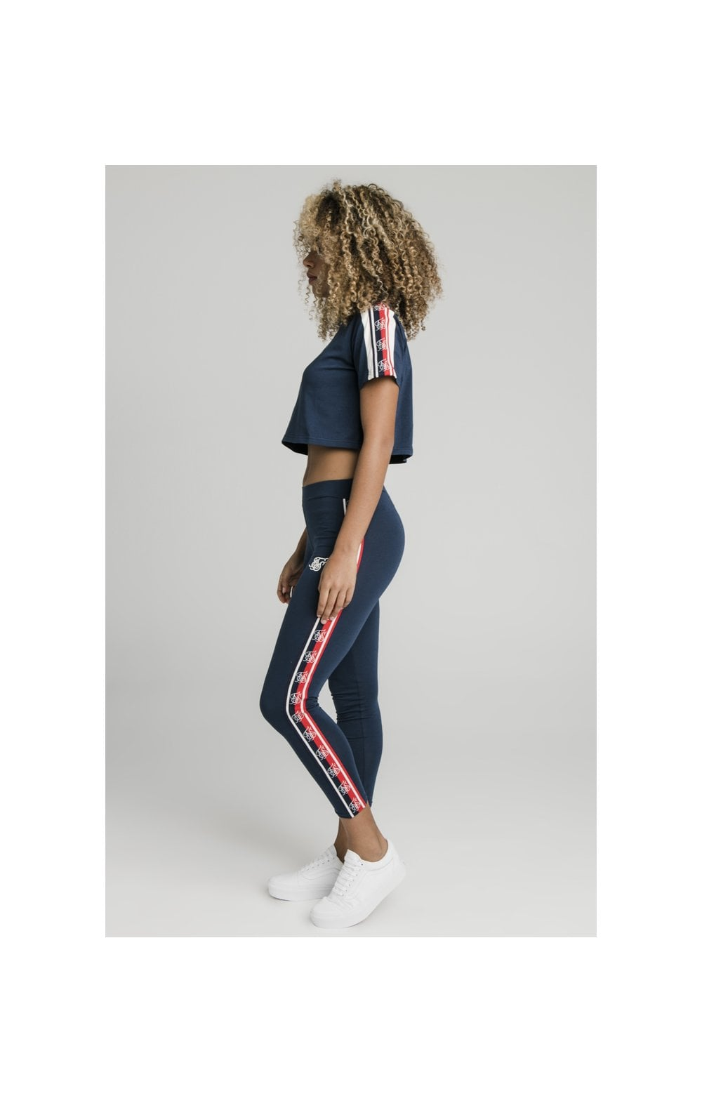 Load image into Gallery viewer, SikSilk Classic Tape Leggings - Navy (8)