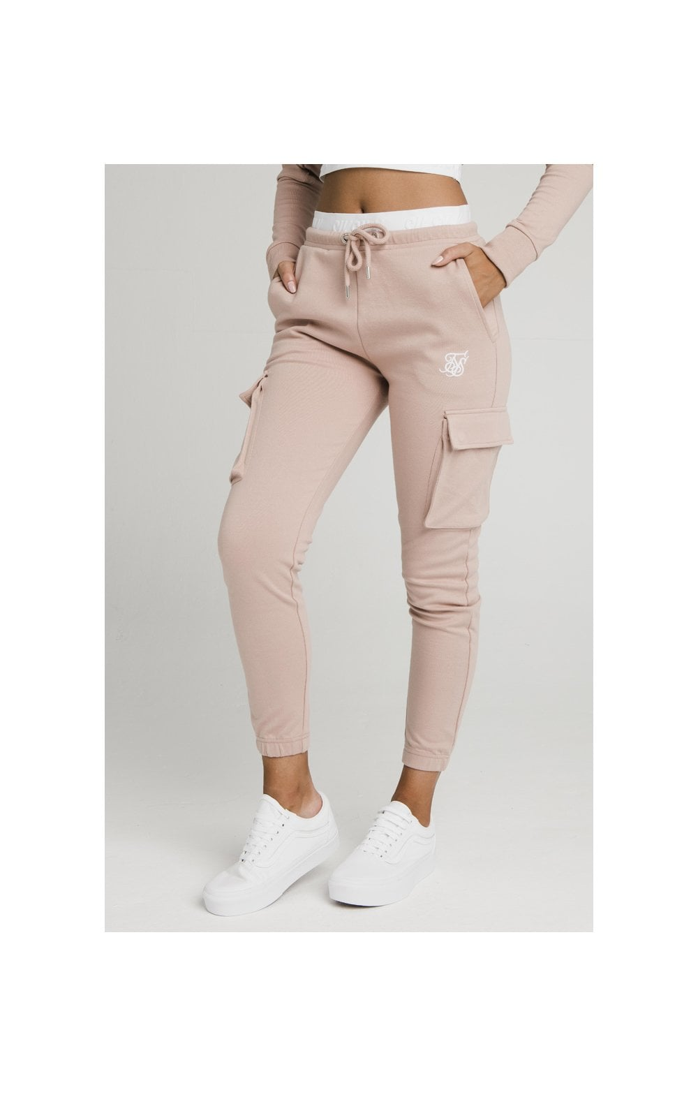SikSilk Cargo Joggers - Rose
