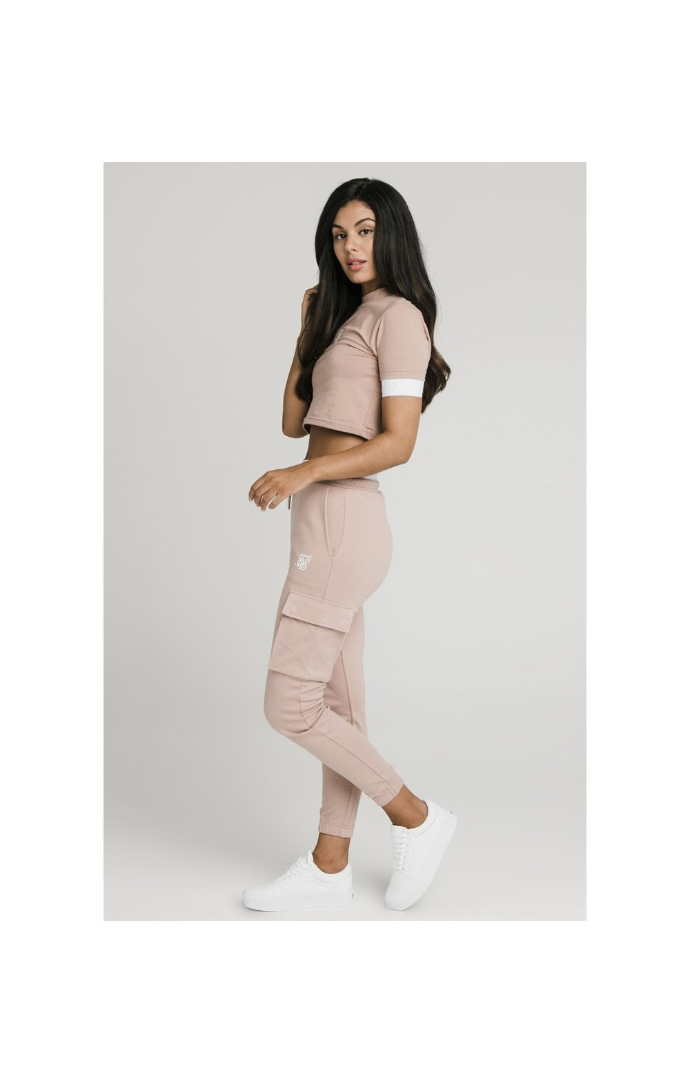 Load image into Gallery viewer, SikSilk Cargo Joggers - Rose (2)