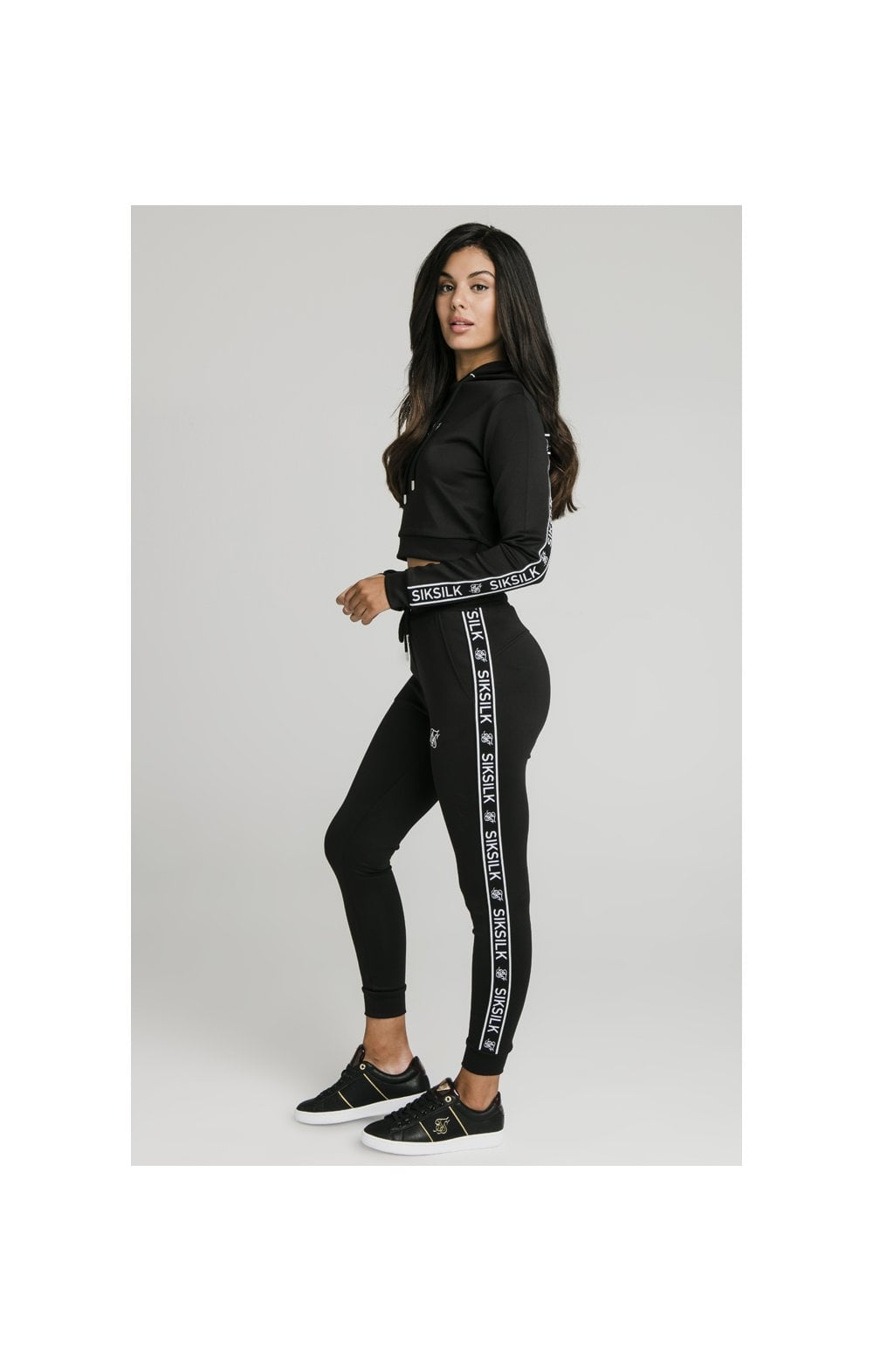 SikSilk Arc Tech Cropped Track Top - Black (3)
