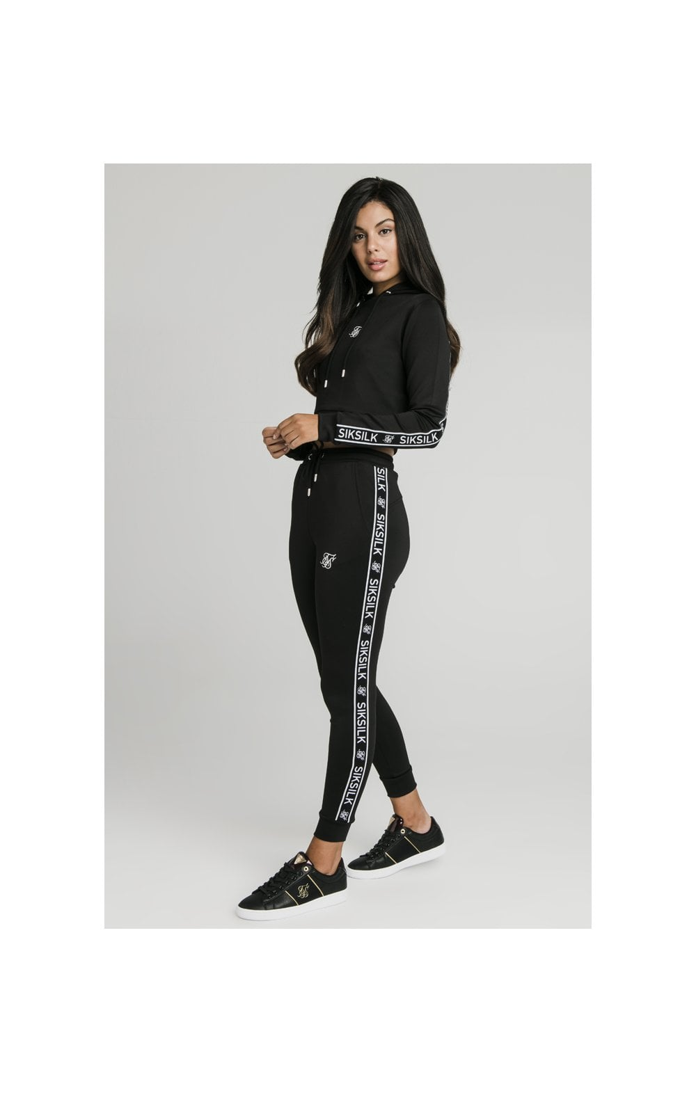 SikSilk Arc Tech Cropped Track Top - Black (4)