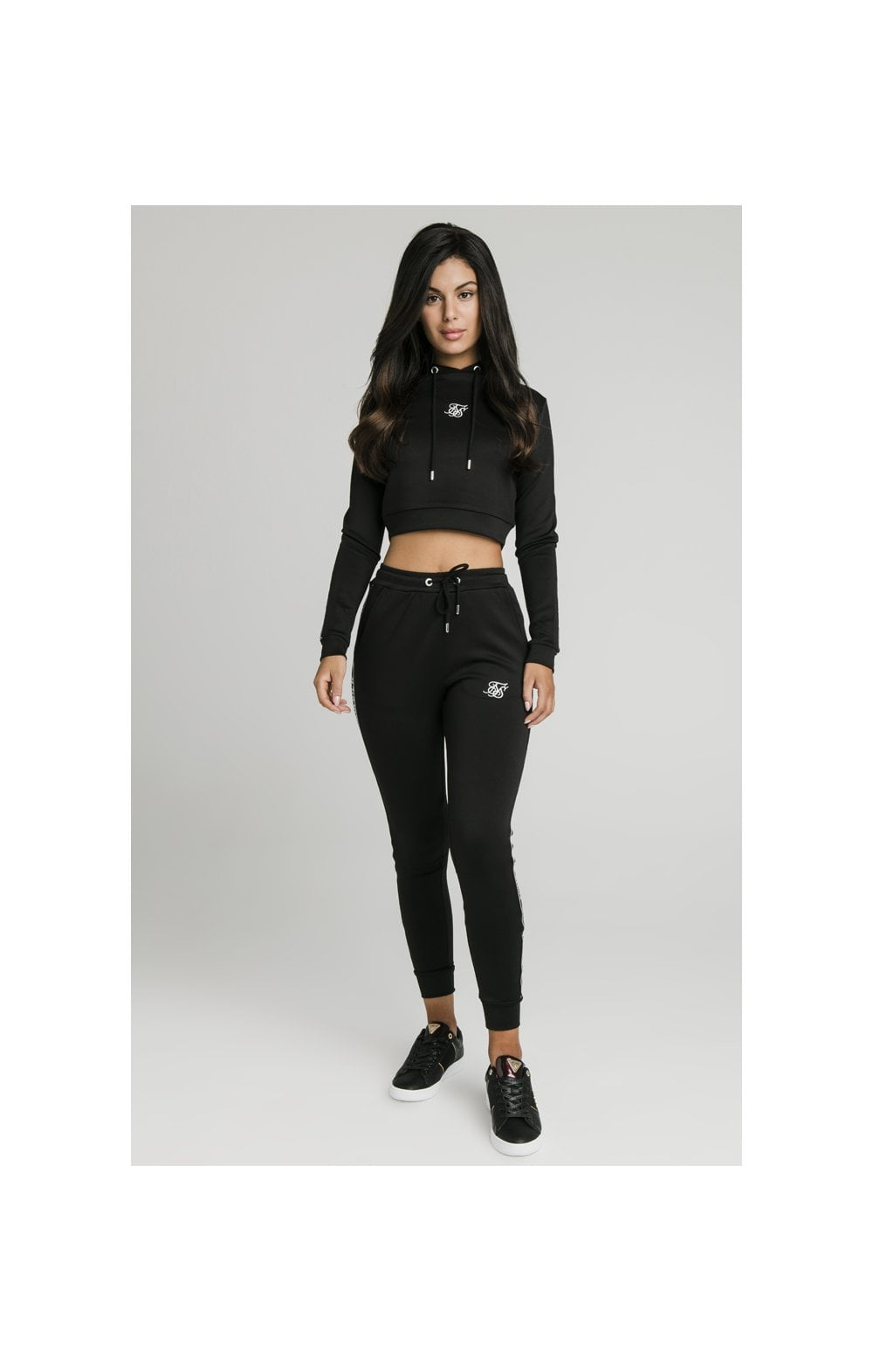 SikSilk Arc Tech Cropped Track Top - Black (5)