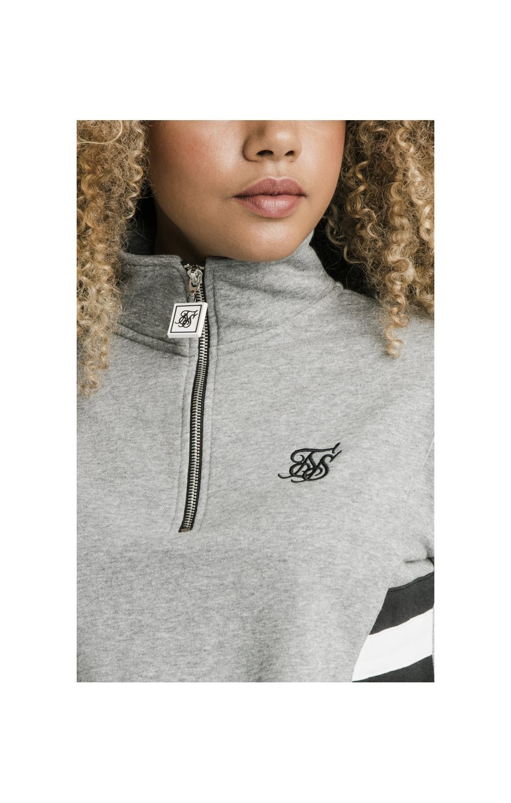 SikSilk Sports Luxe Track Top - Grey Marl (1)