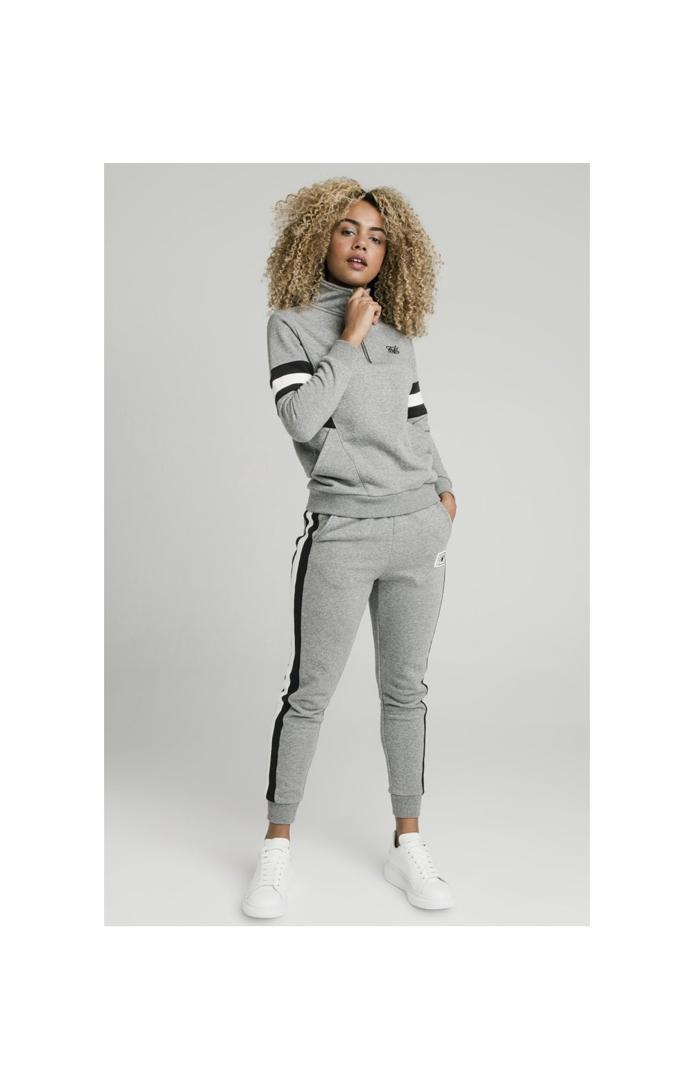 SikSilk Sports Luxe Track Top - Grey Marl (2)