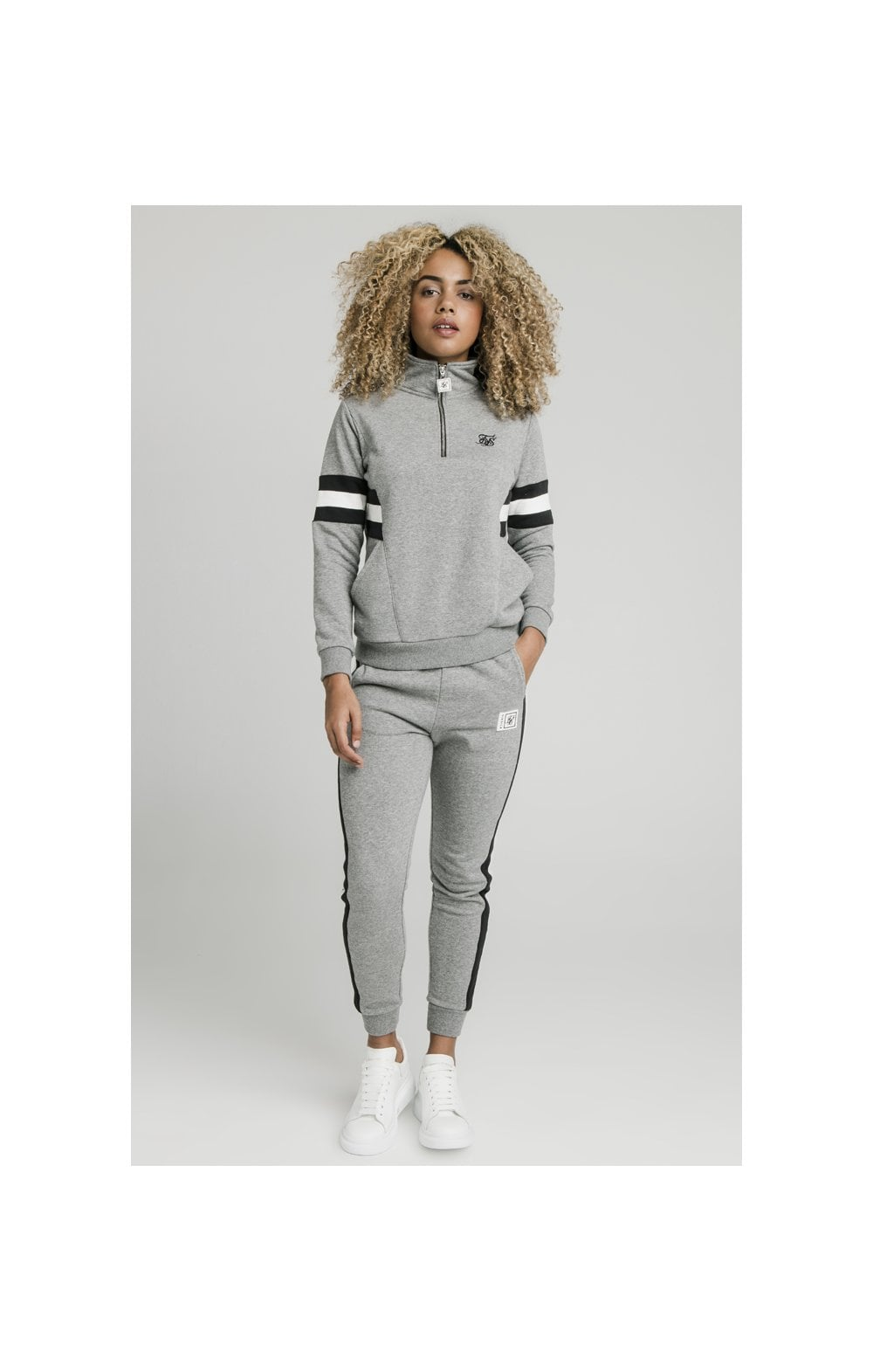 SikSilk Sports Luxe Track Top - Grey Marl (4)