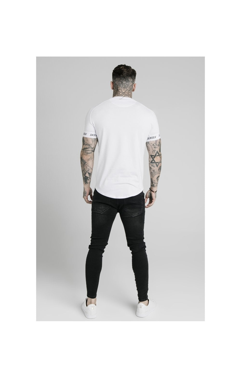 Load image into Gallery viewer, SikSilk S/S Raglan Tech Tee - White (4)