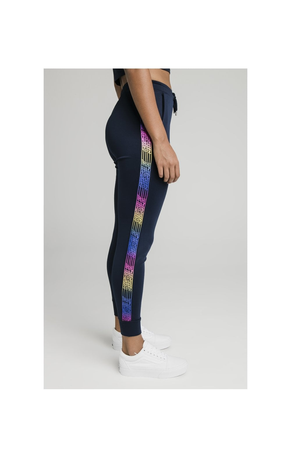 Load image into Gallery viewer, SikSilk Rainbow Runner Track Pants - Navy (3)