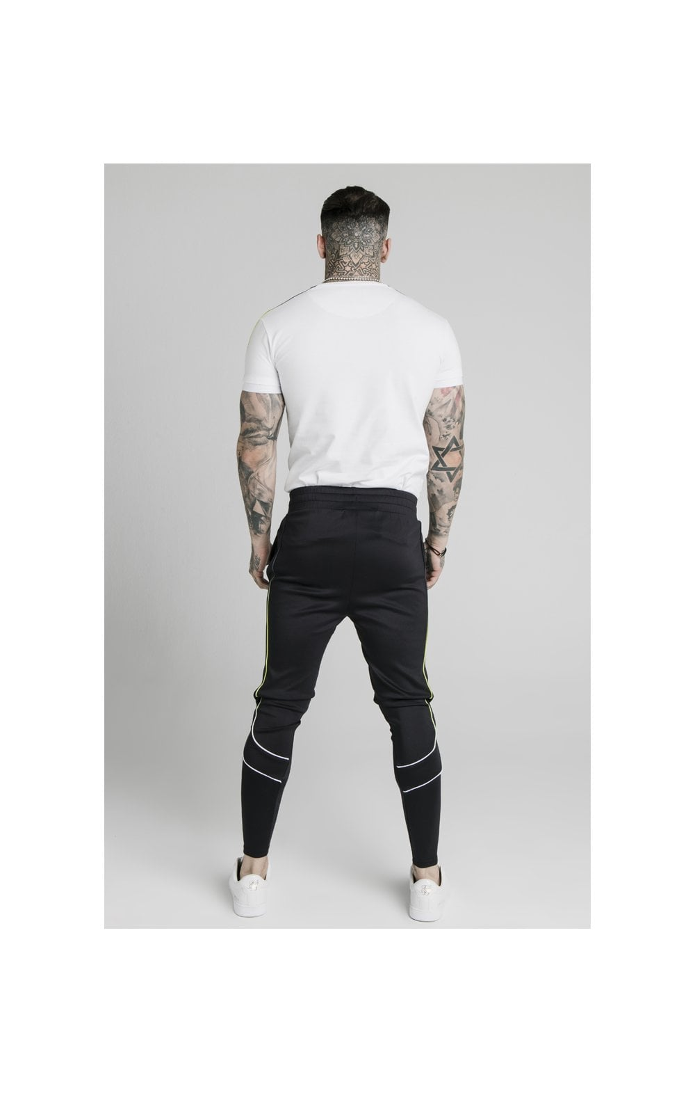 SikSilk S/S Fade Panel Tech Tee - White (4)