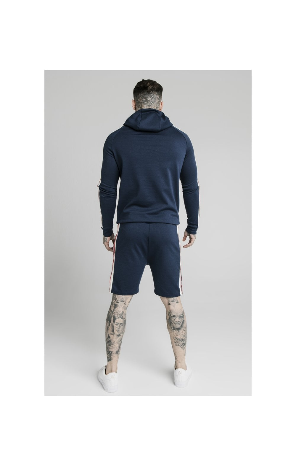 Load image into Gallery viewer, SikSilk Retro Tape Overhead Hoodie - Navy (5)