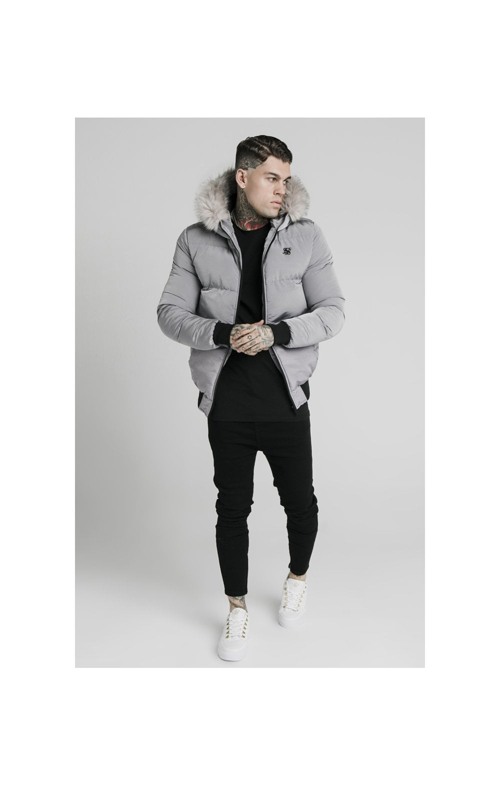 SikSilk Rip Stop Distance Jacket – Grey