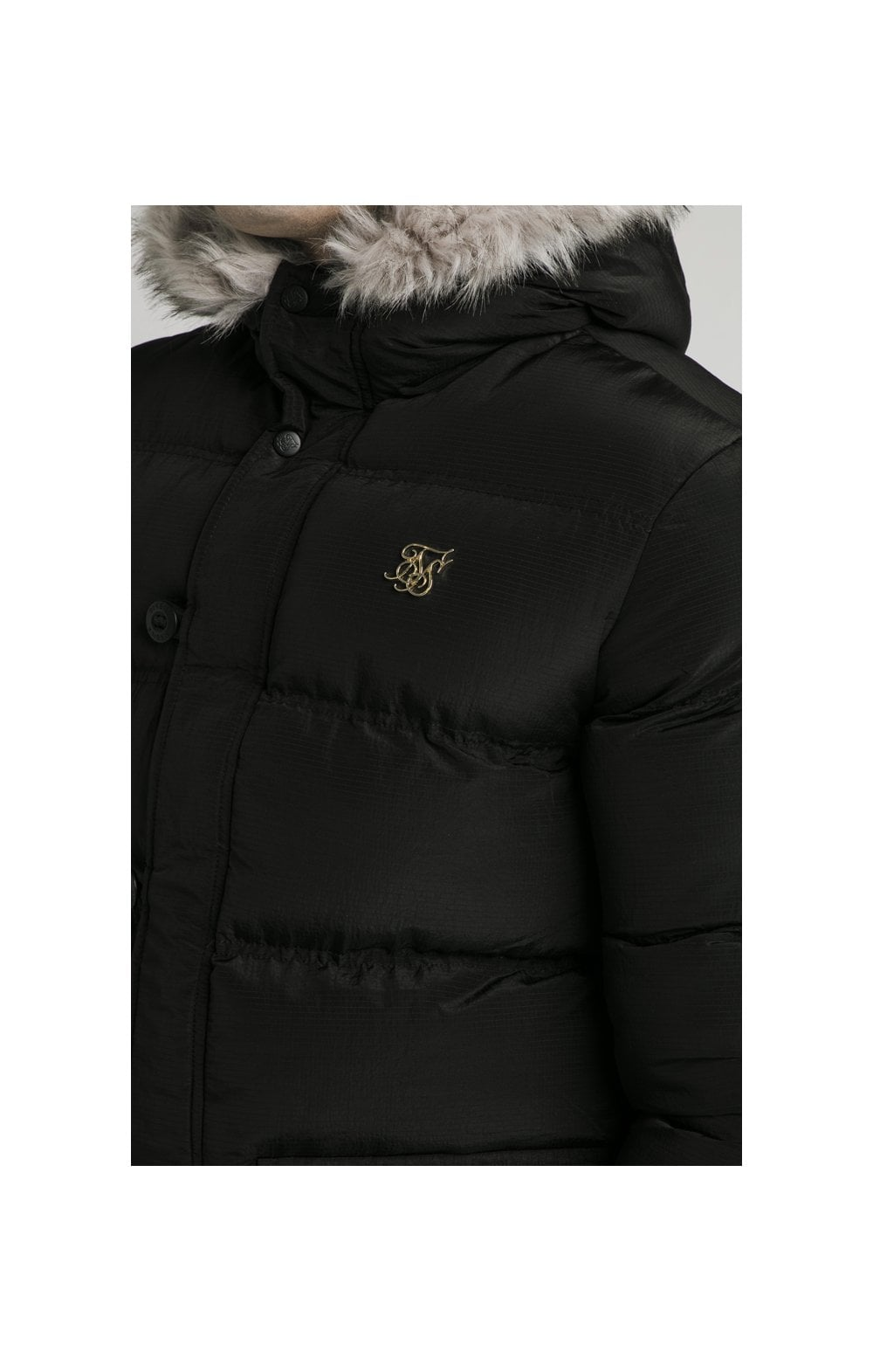 Load image into Gallery viewer, SikSilk Rip Stop Puff Parka - Black (1)