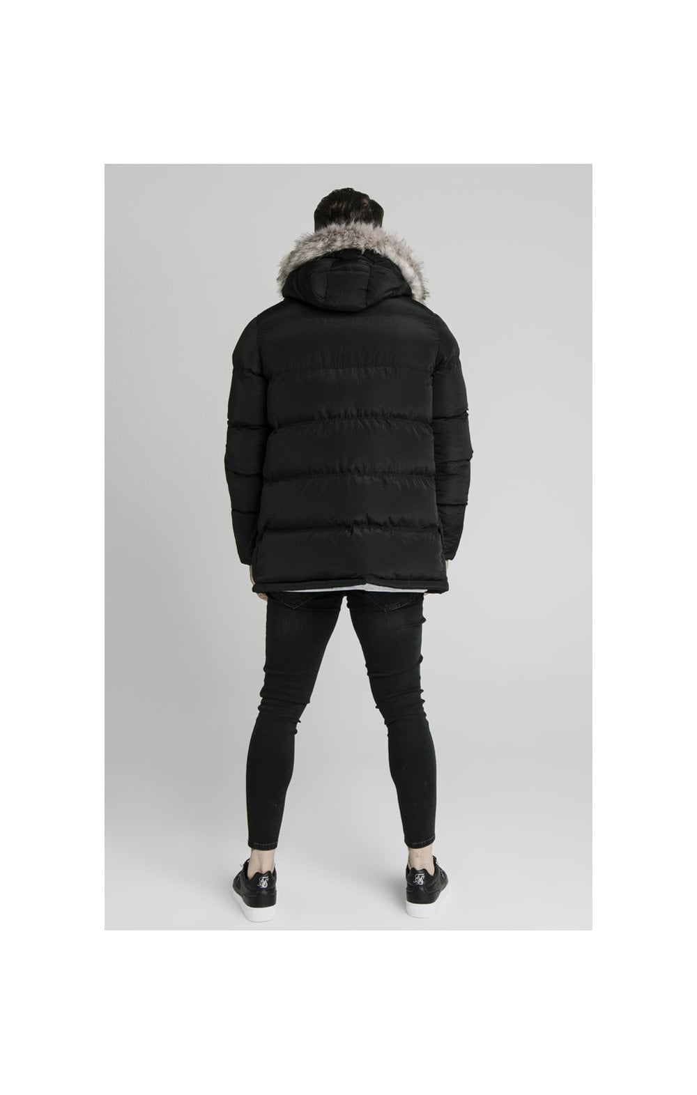 Load image into Gallery viewer, SikSilk Rip Stop Puff Parka - Black (5)