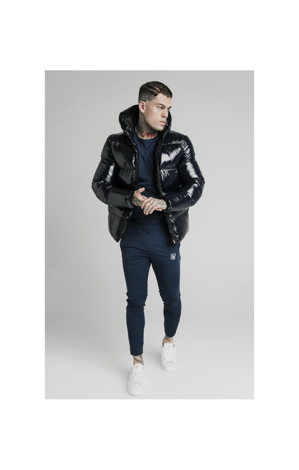Load image into Gallery viewer, SikSilk Adapt Jacket - Navy (3)
