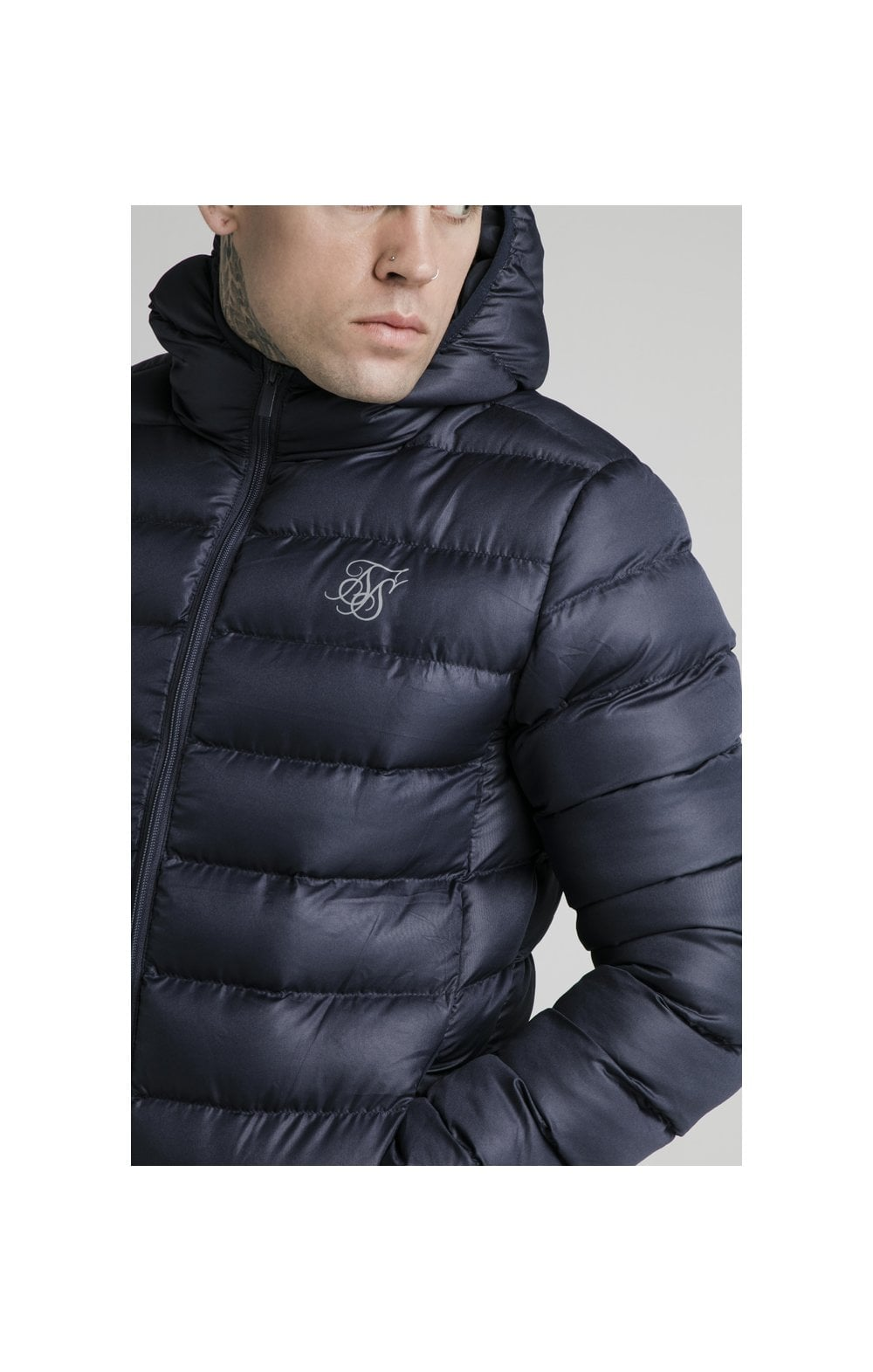 SikSilk Atmosphere Jacket - Navy (1)