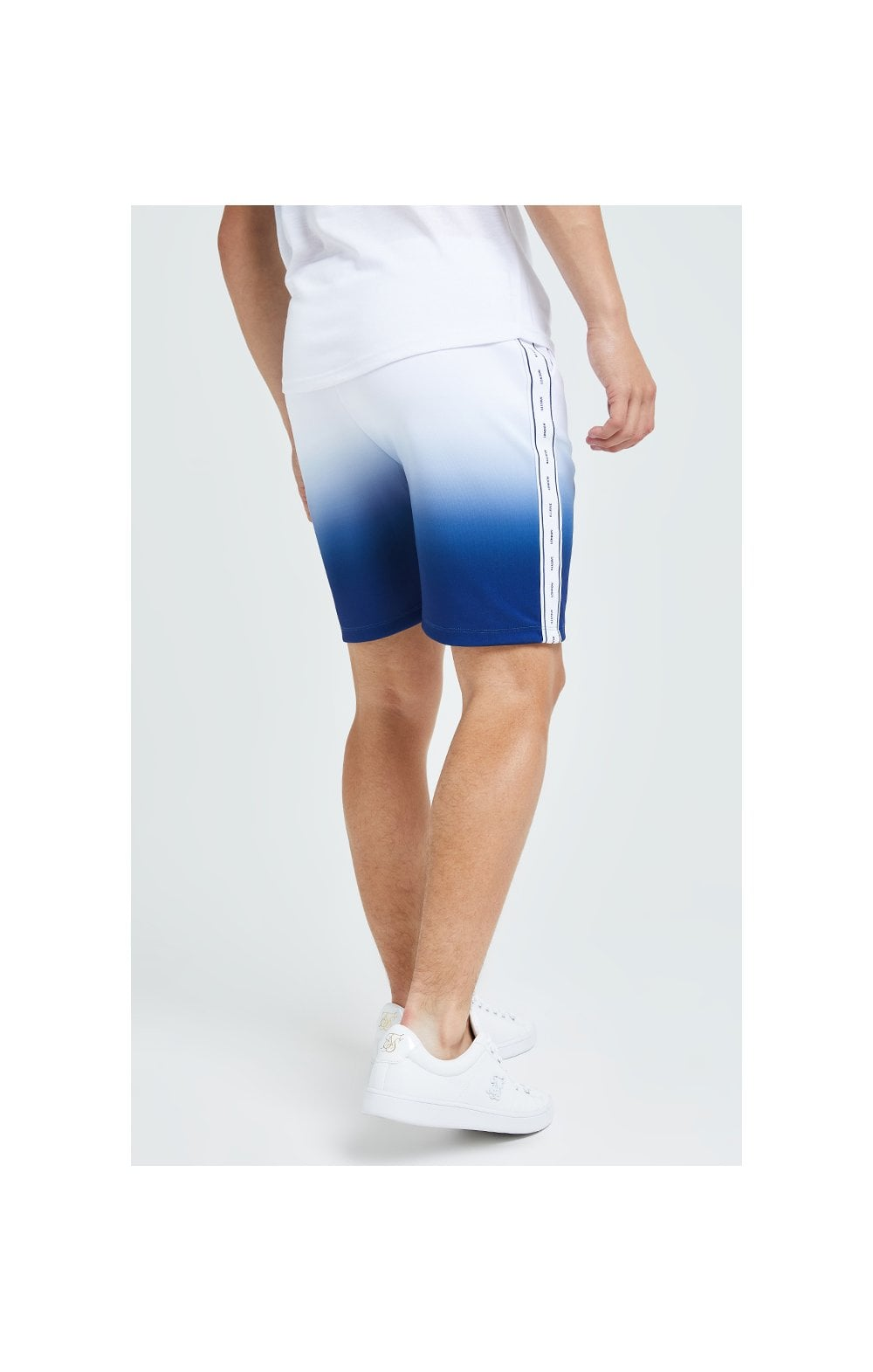 Illusive London Fade Poly Shorts - Indigo & White (8)