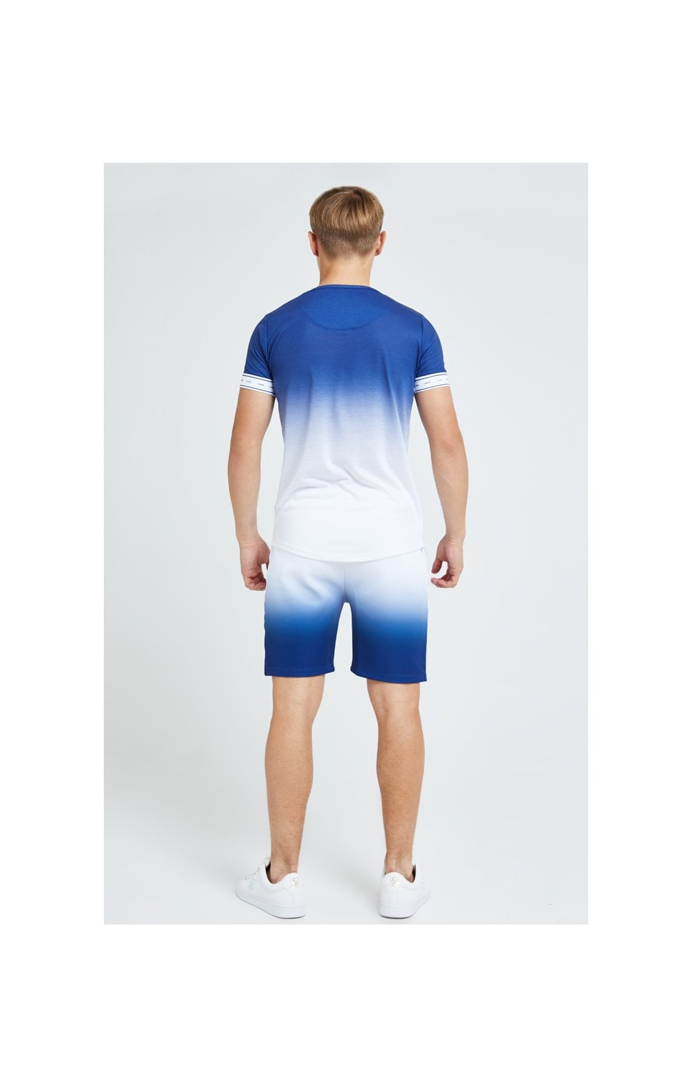 Illusive London Fade Poly Shorts - Indigo & White (7)