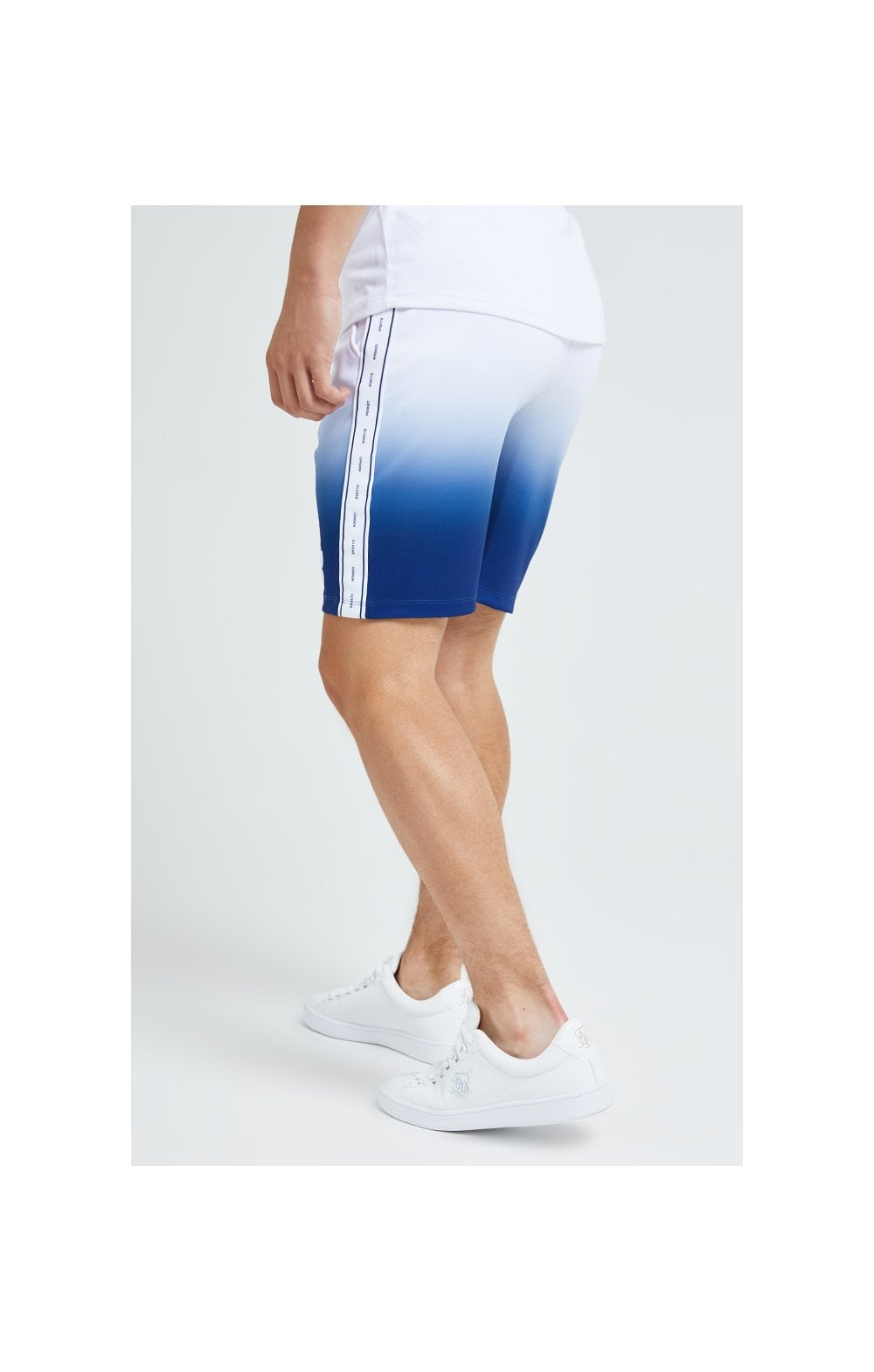 Illusive London Fade Poly Shorts - Indigo & White (6)