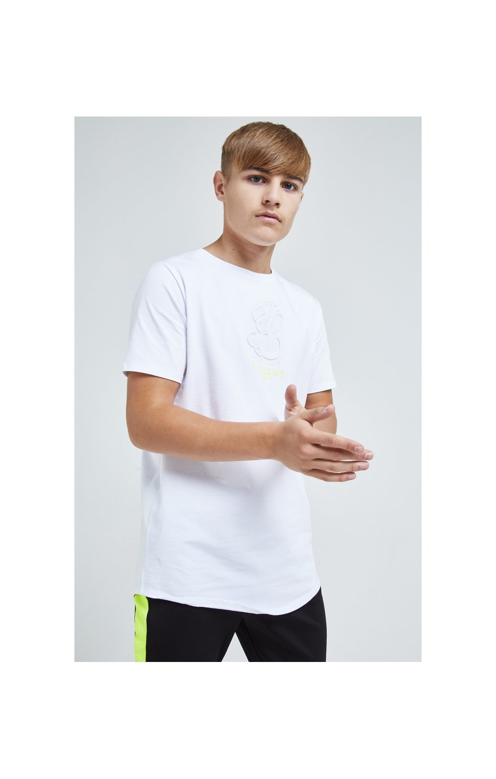 Illusive London Embossed Logo Tee - White