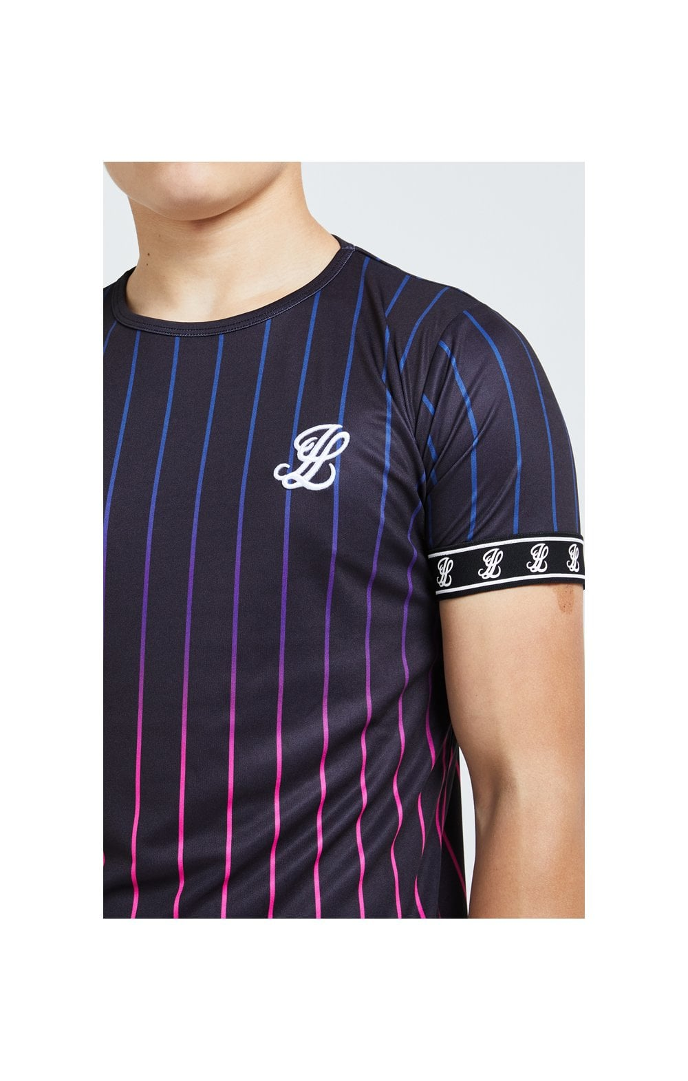 Load image into Gallery viewer, Illusive London Fade Stripe Tee - Black (1)