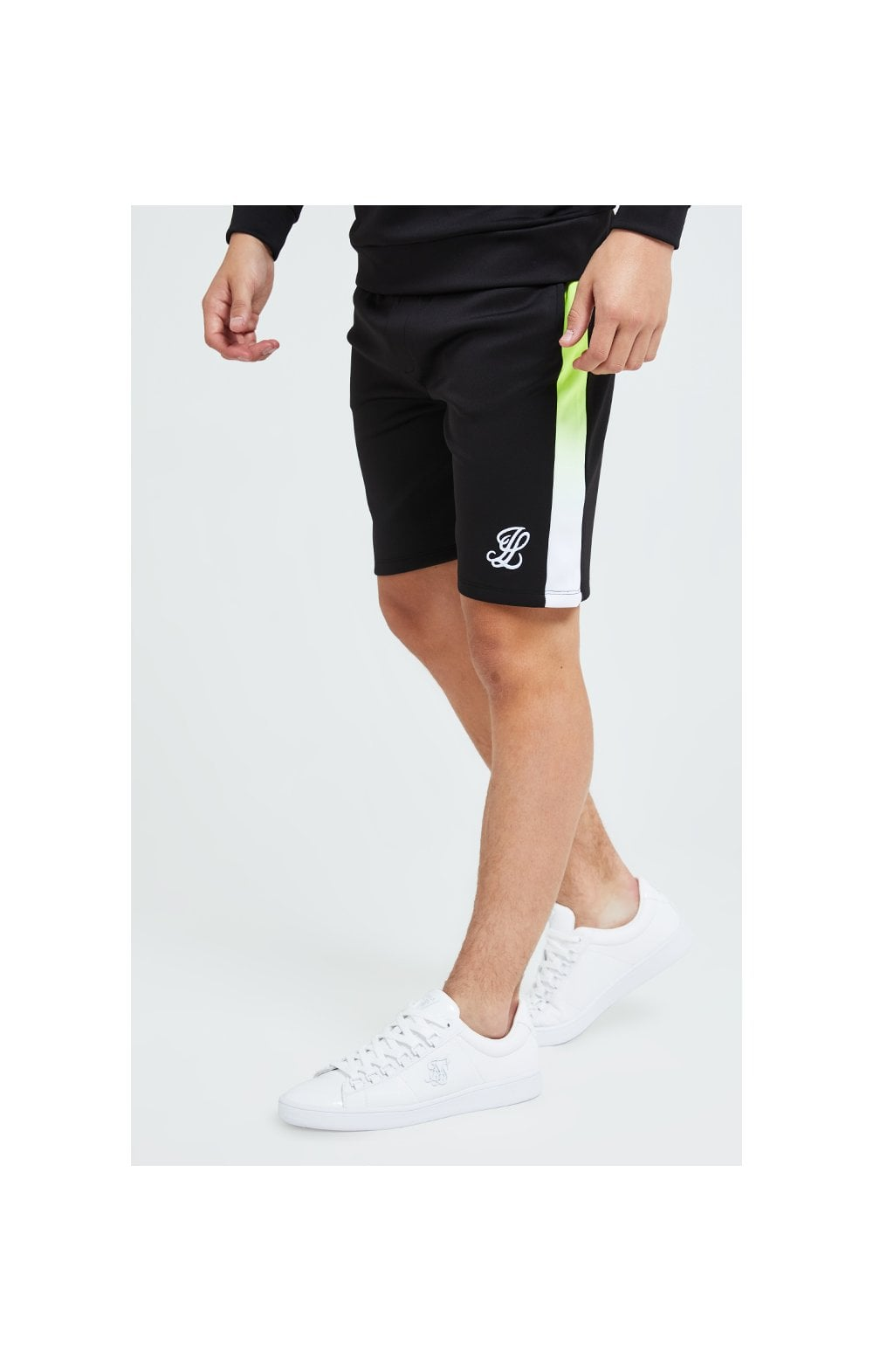 Load image into Gallery viewer, Illusive London Fade Panel Shorts - Black Neon