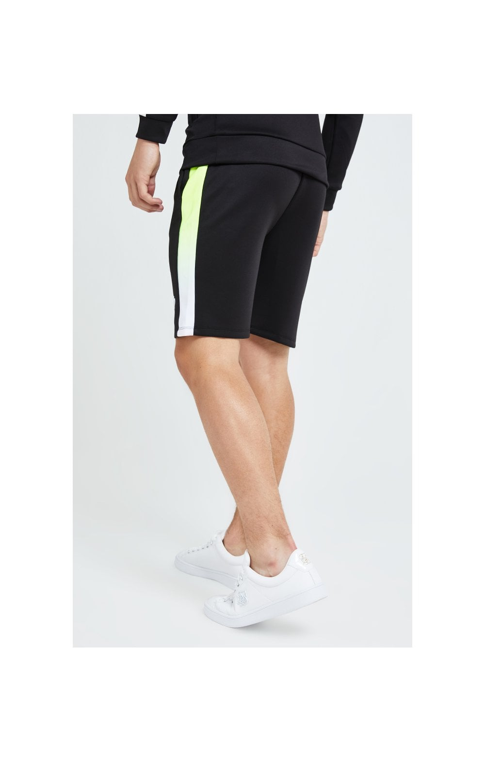 Load image into Gallery viewer, Illusive London Fade Panel Shorts - Black Neon (2)