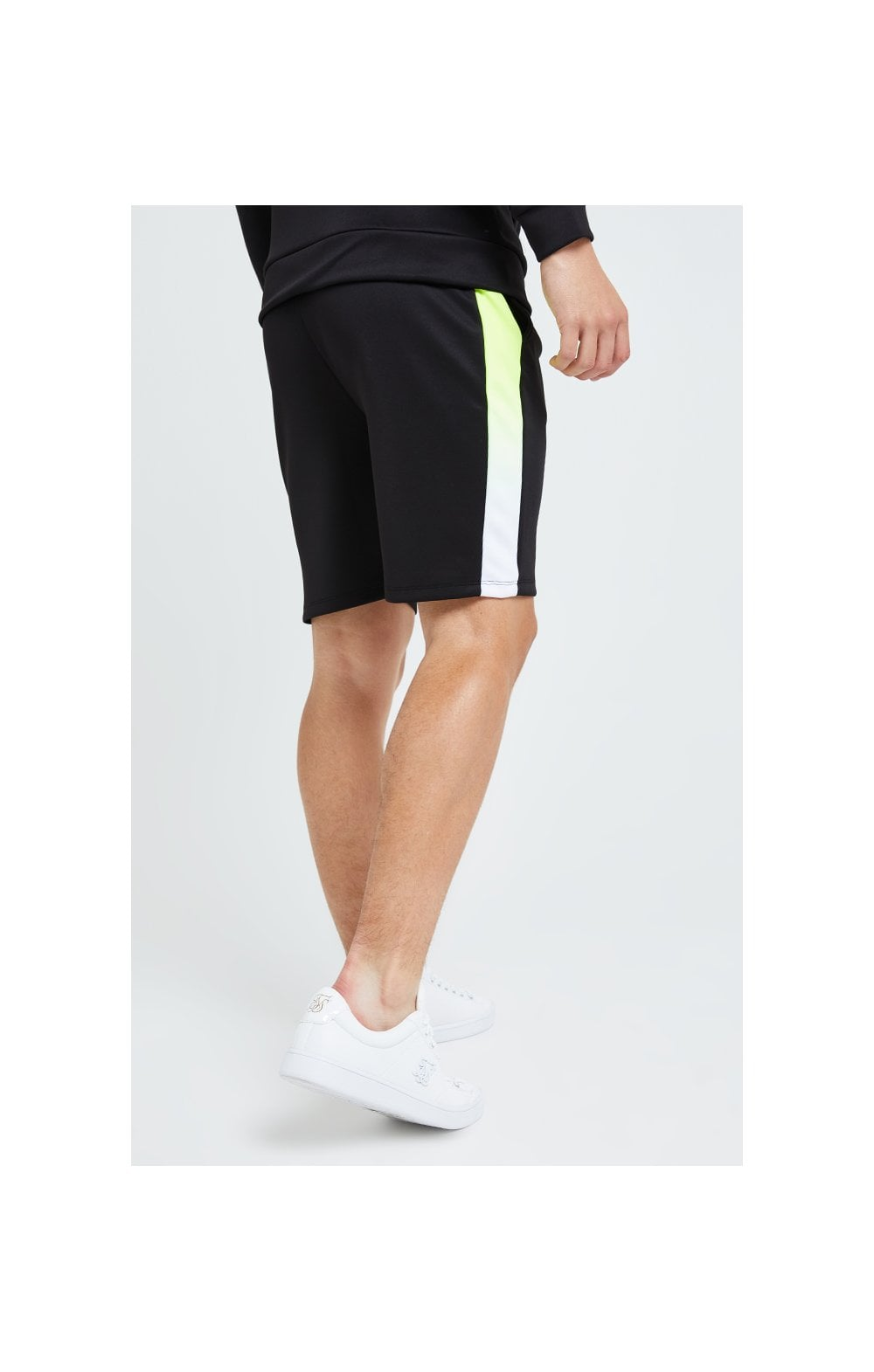 Load image into Gallery viewer, Illusive London Fade Panel Shorts - Black Neon (3)