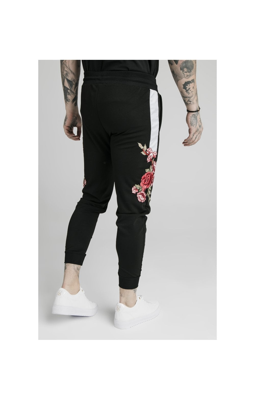 SikSilk Appliqu�� Panelled Fitted Joggers - Black (5)