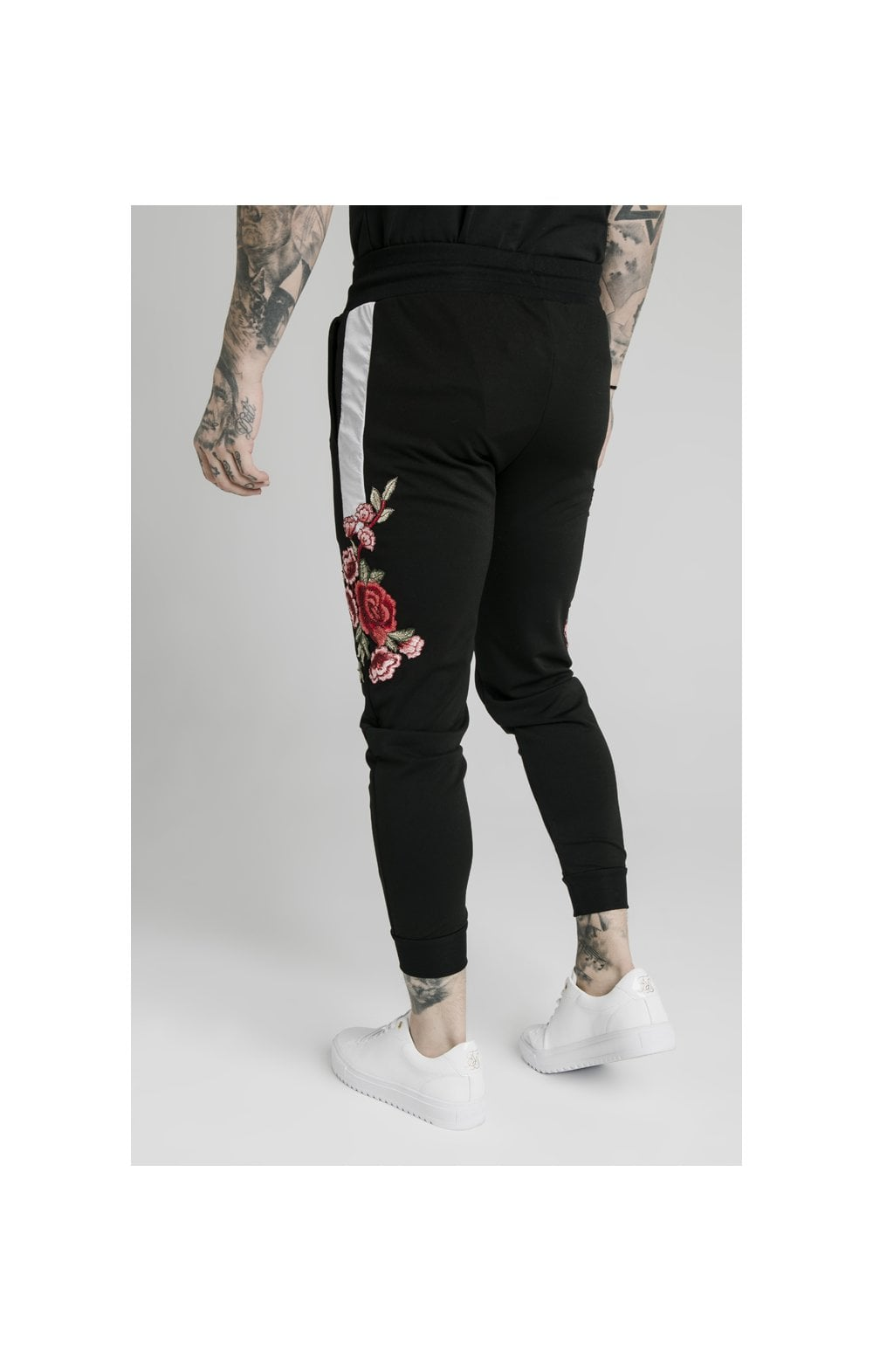SikSilk Appliqu�� Panelled Fitted Joggers - Black (7)