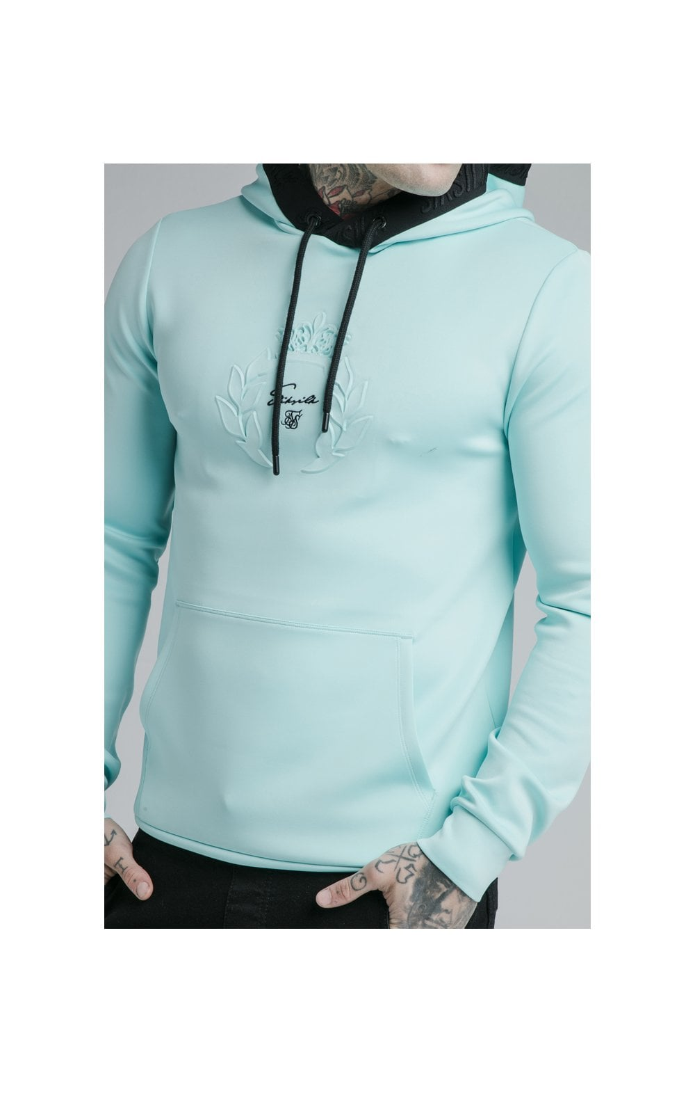 Load image into Gallery viewer, SikSilk Prestige Overhead Hoodie - Teal (1)